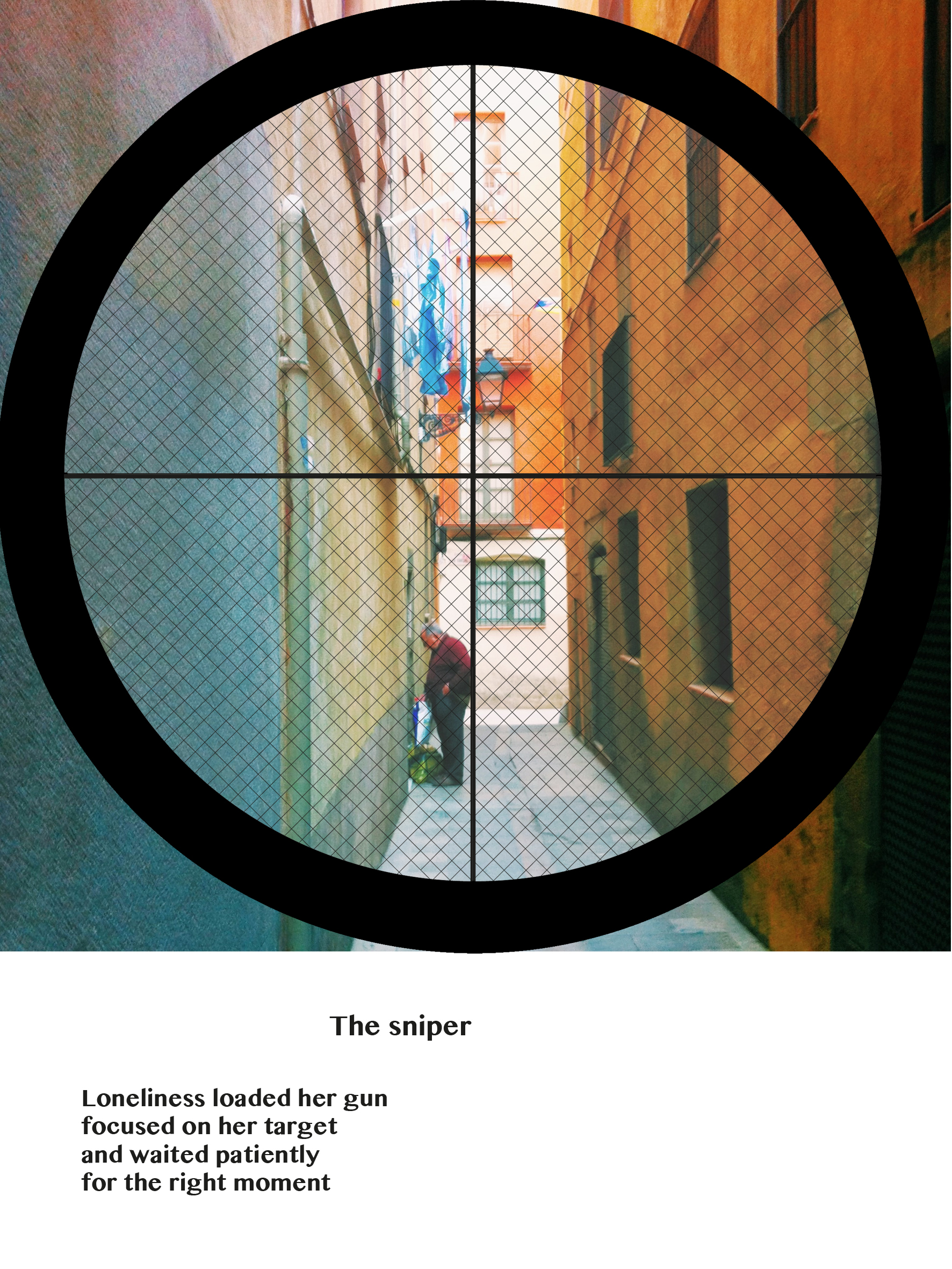 The sniper  gyclee fine art print on photolux pearl paper 2016 15 x 20 cm