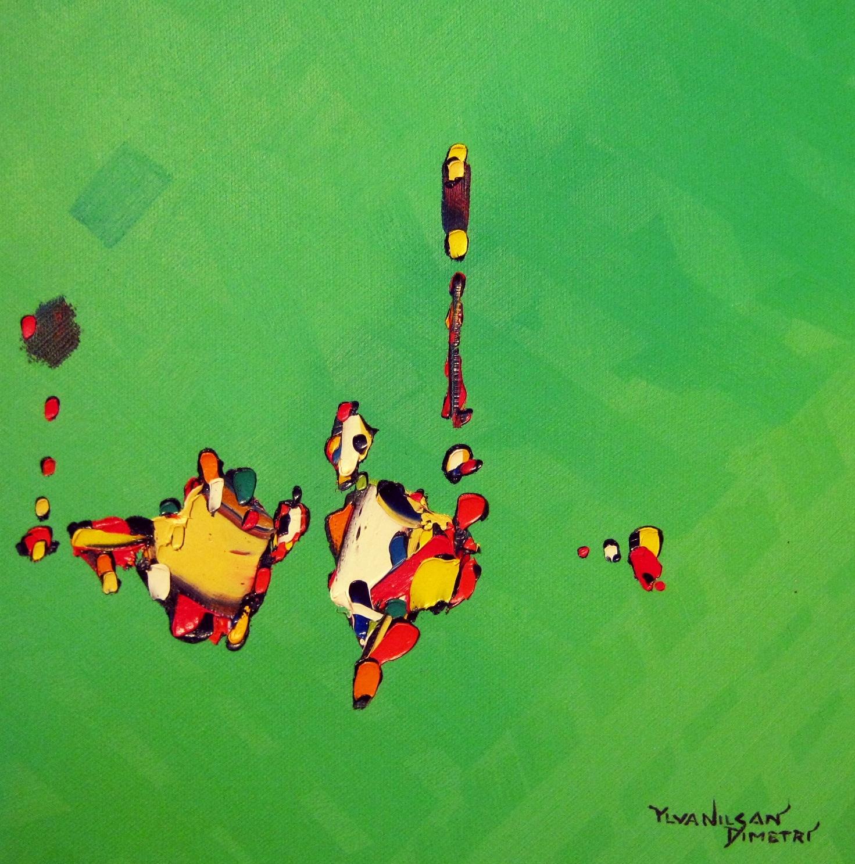 high jump / höjdhopp  acrylic on canvas ca. 2009 - 2016 30x30