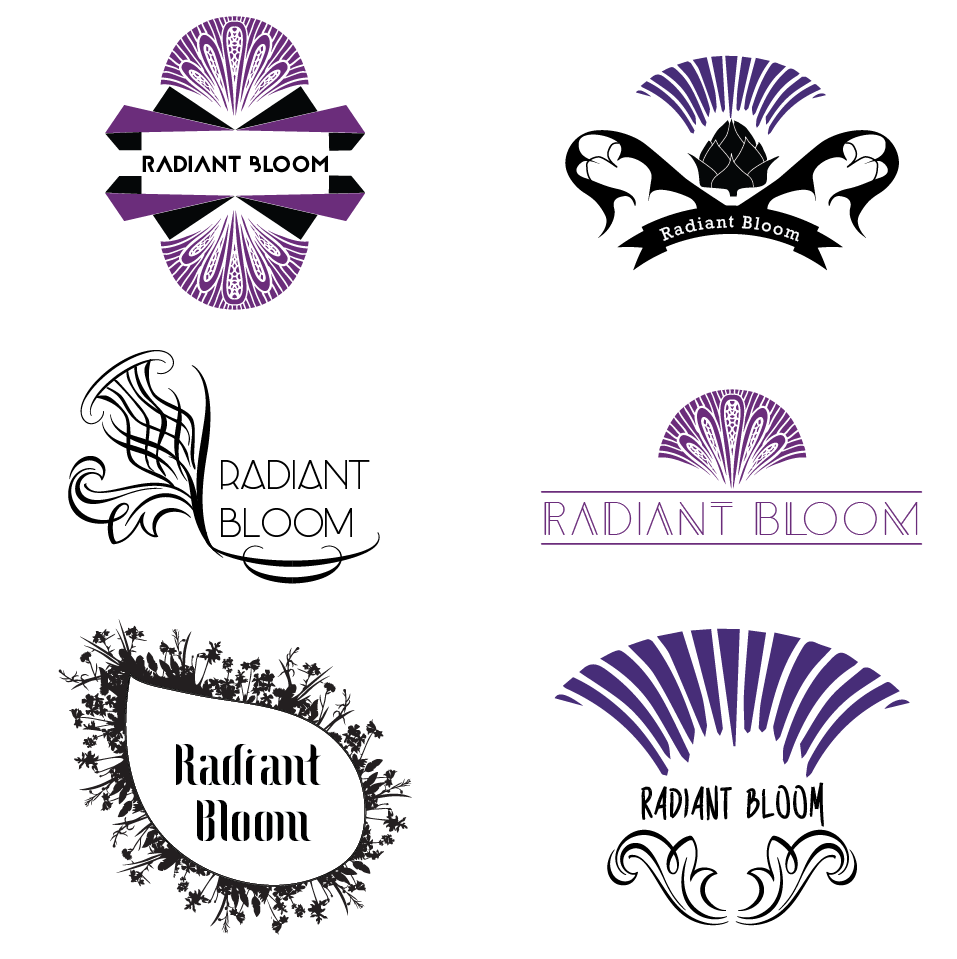 The client for this nutritional consulting company wanted a logo that incorporated an artichoke flower with a modern, art deco, feminine and simple style. These were some of the comps I made for her.