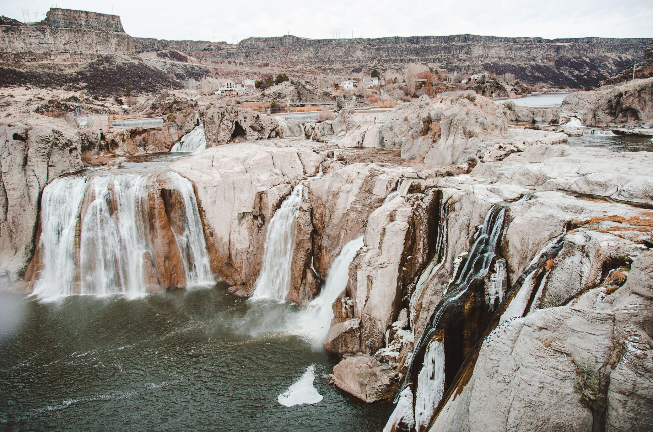 Shoshone Falls Idaho Winter Icicles Waterfall Roadtrip Miranda Kelton Photography-5.jpg