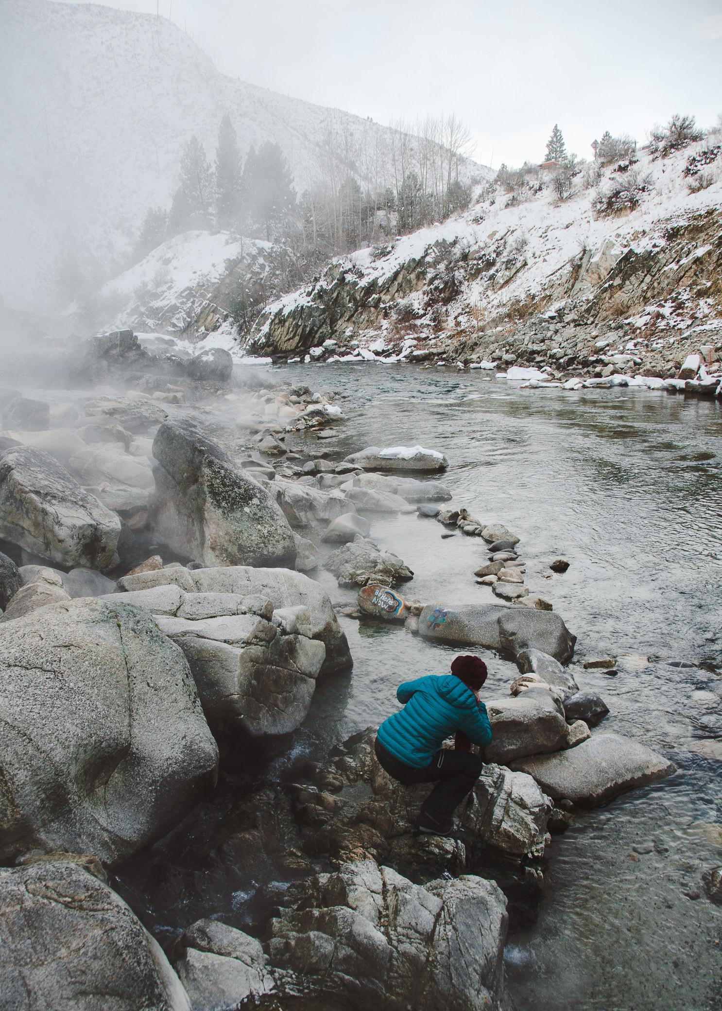 Kirkham Hot Springs Lowman Idaho Winter Roadtrip Miranda Kelton Photography