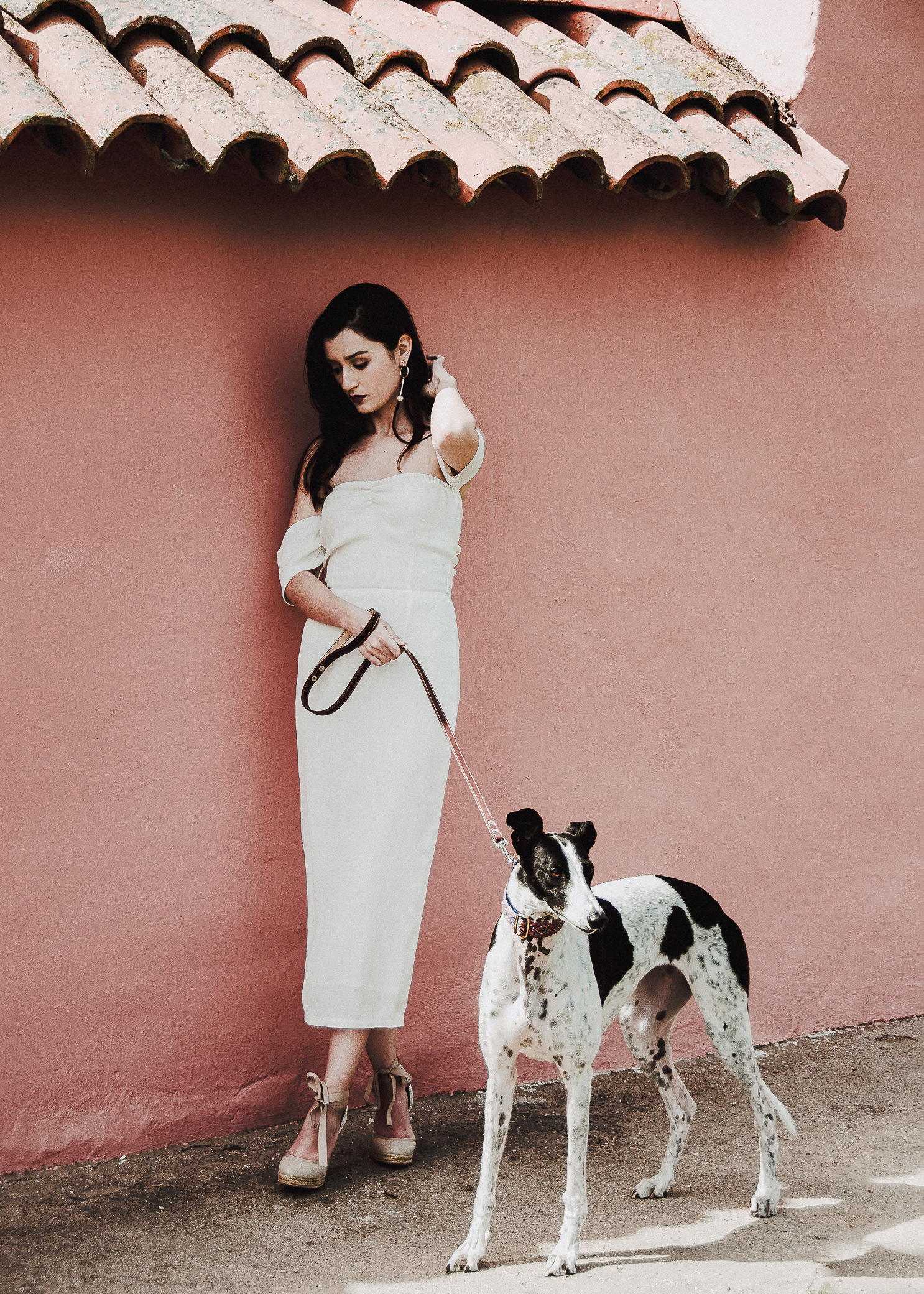 Los Angeles Fashion Blogger Teryn Grey Greyhound Rescue La Purisima Mission Miranda Kelton Photography