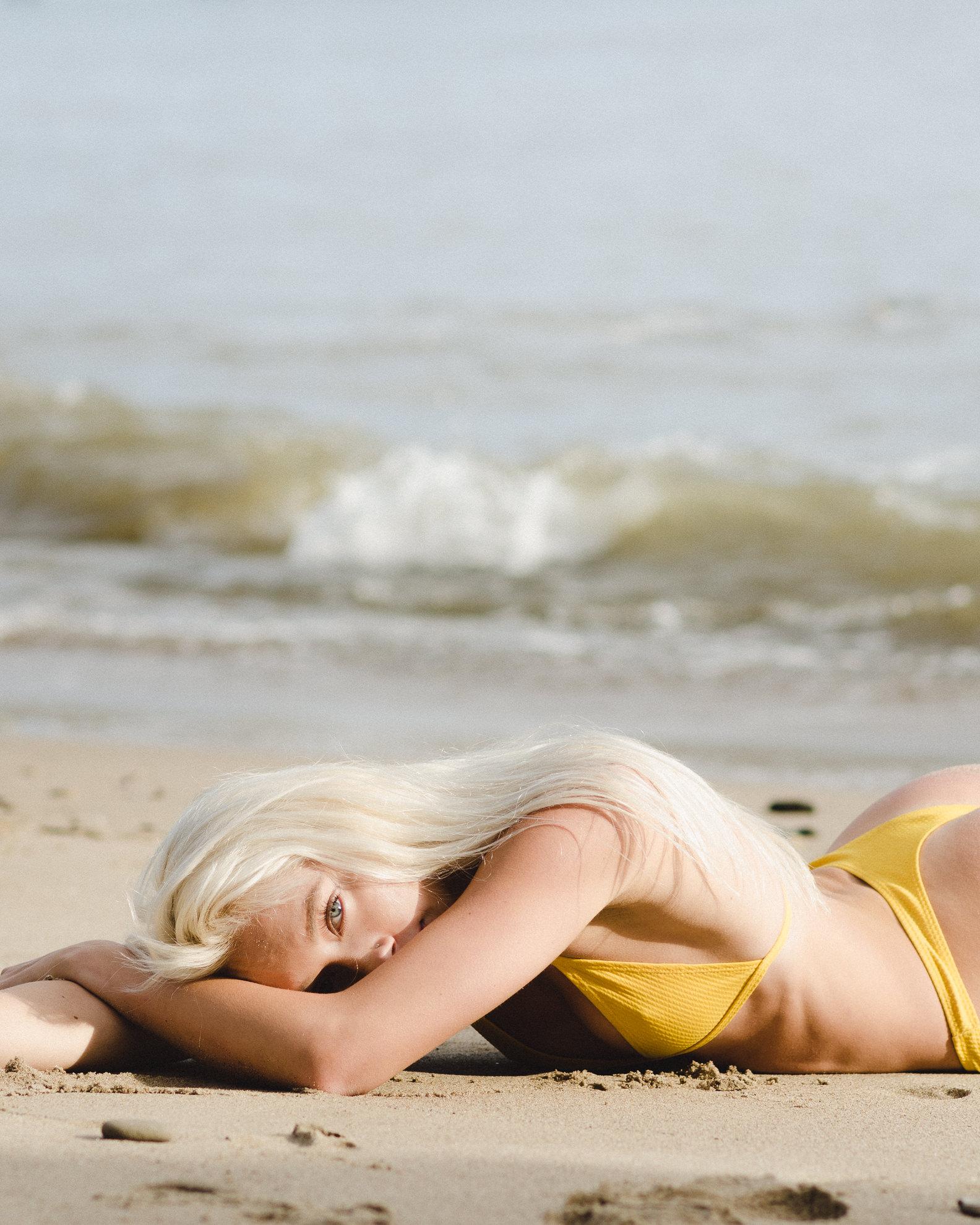 at the beach - carpinteria, california