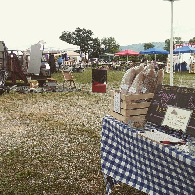 Now you can get a loaf of bread with your antiques! #happyvalleyfleamarket
