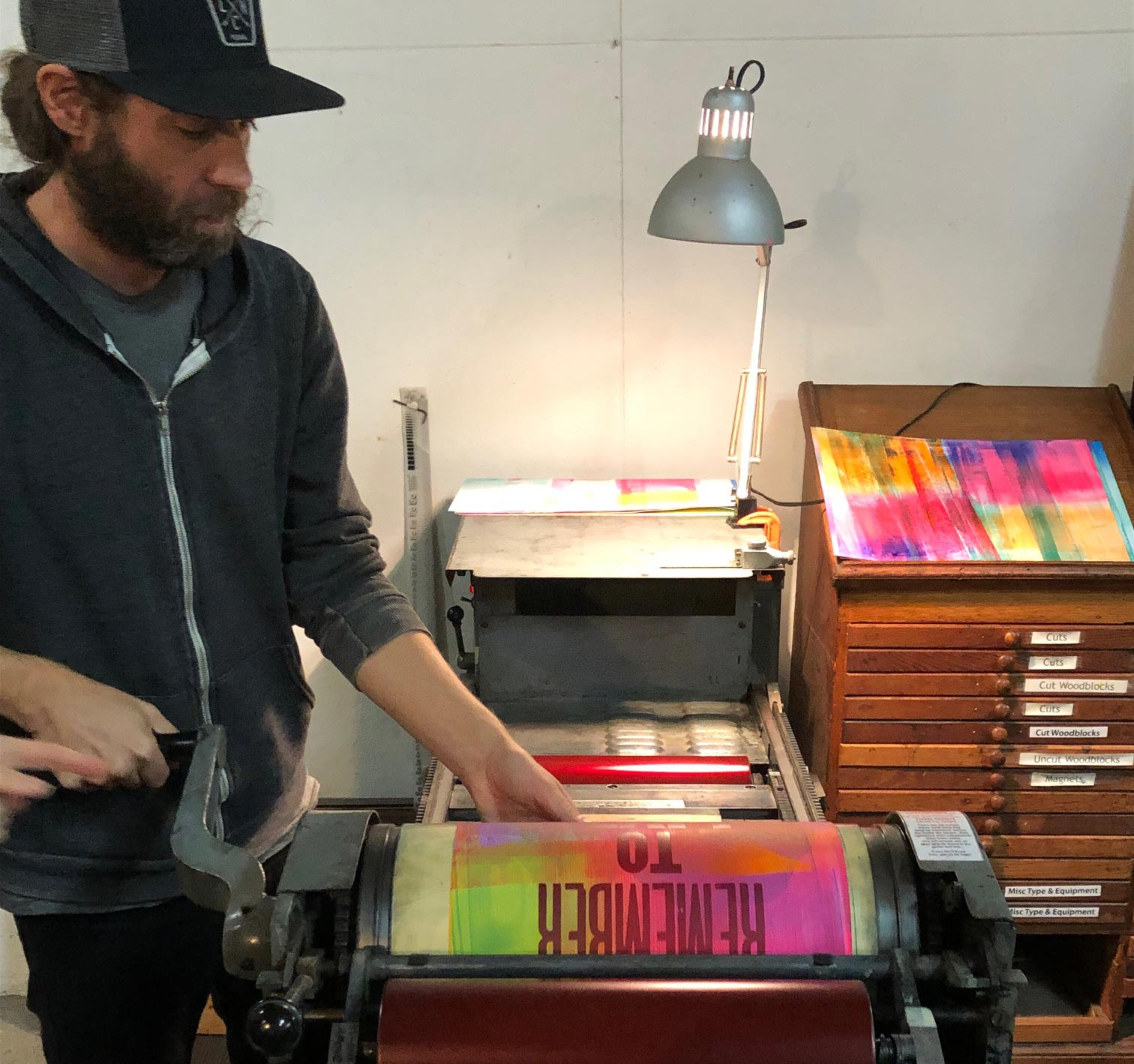 Chris Fritton   is the former Studio Director of the Western New York Book Arts Center. A poet, printer, and fine artist, Fritton has over a decade of experience writing, printing, and making his own books, in addition to collaborative efforts with other authors and artists.
