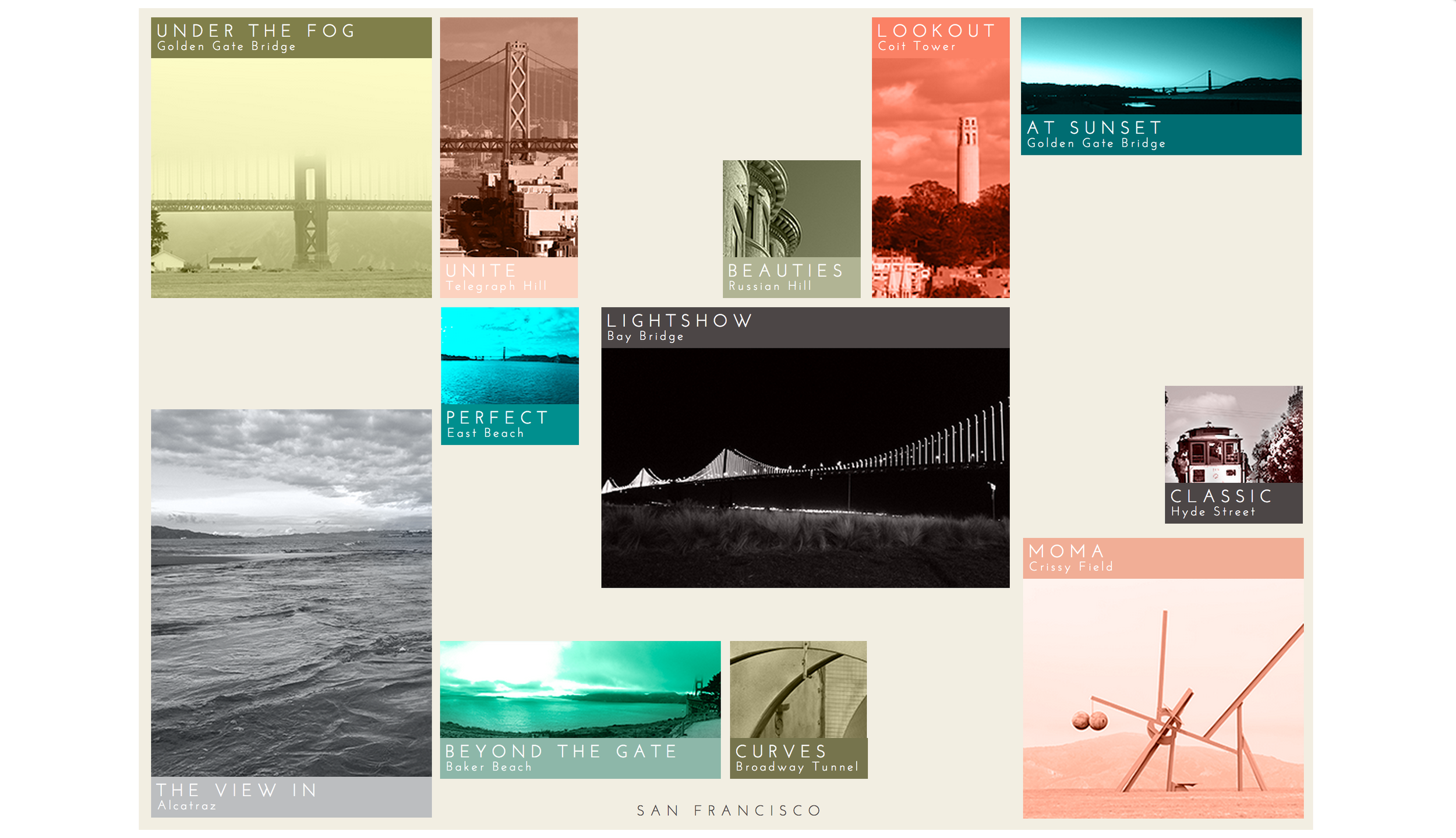 Gallery hand-built and designed with HTML5 &CSS3, with animation. Photography included.