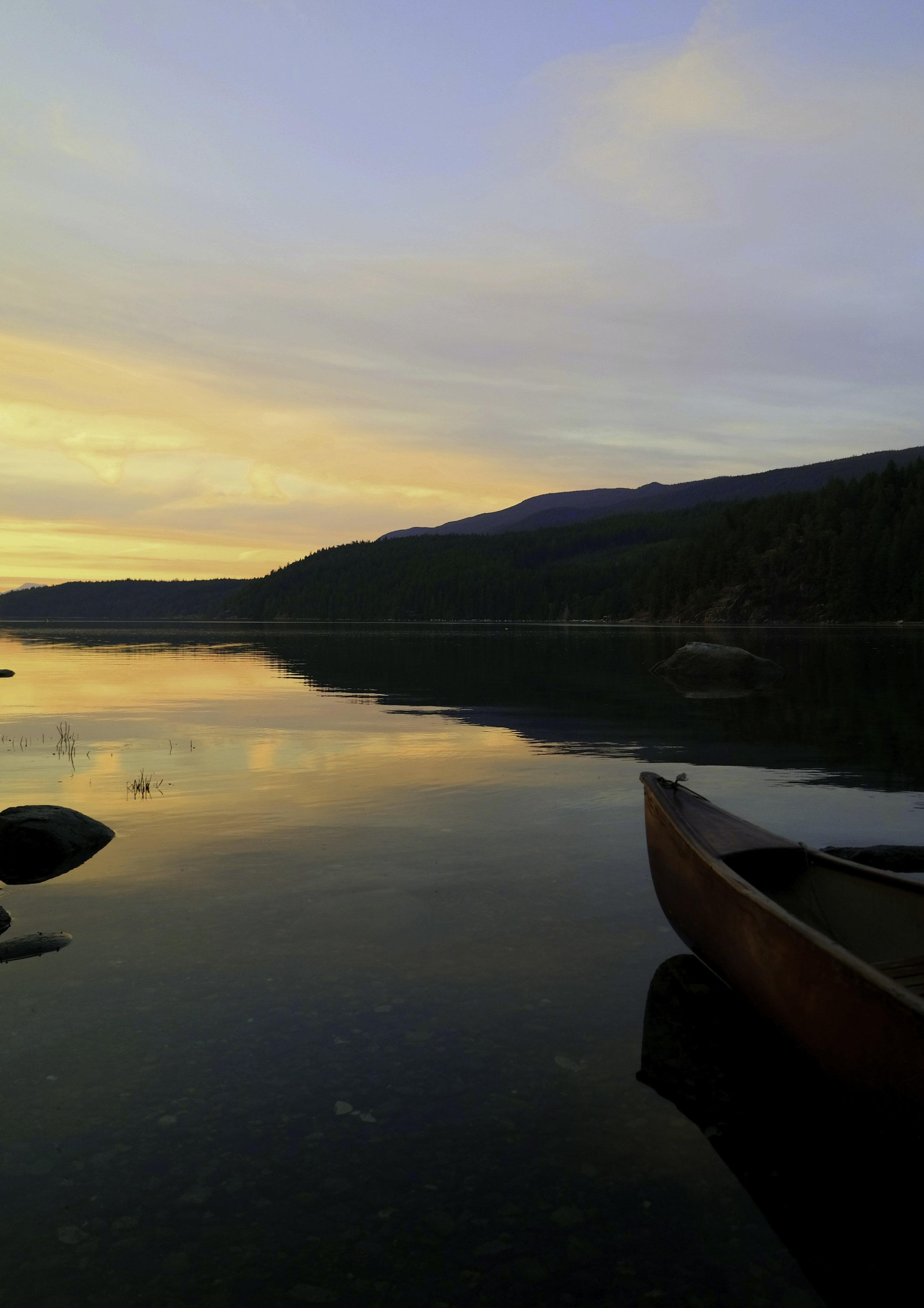 Silence, sunset, and a canoe. Powell River.jpg