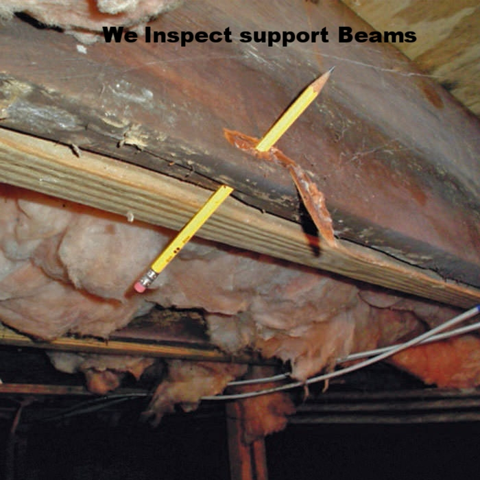 Rotted Steel Support Beam