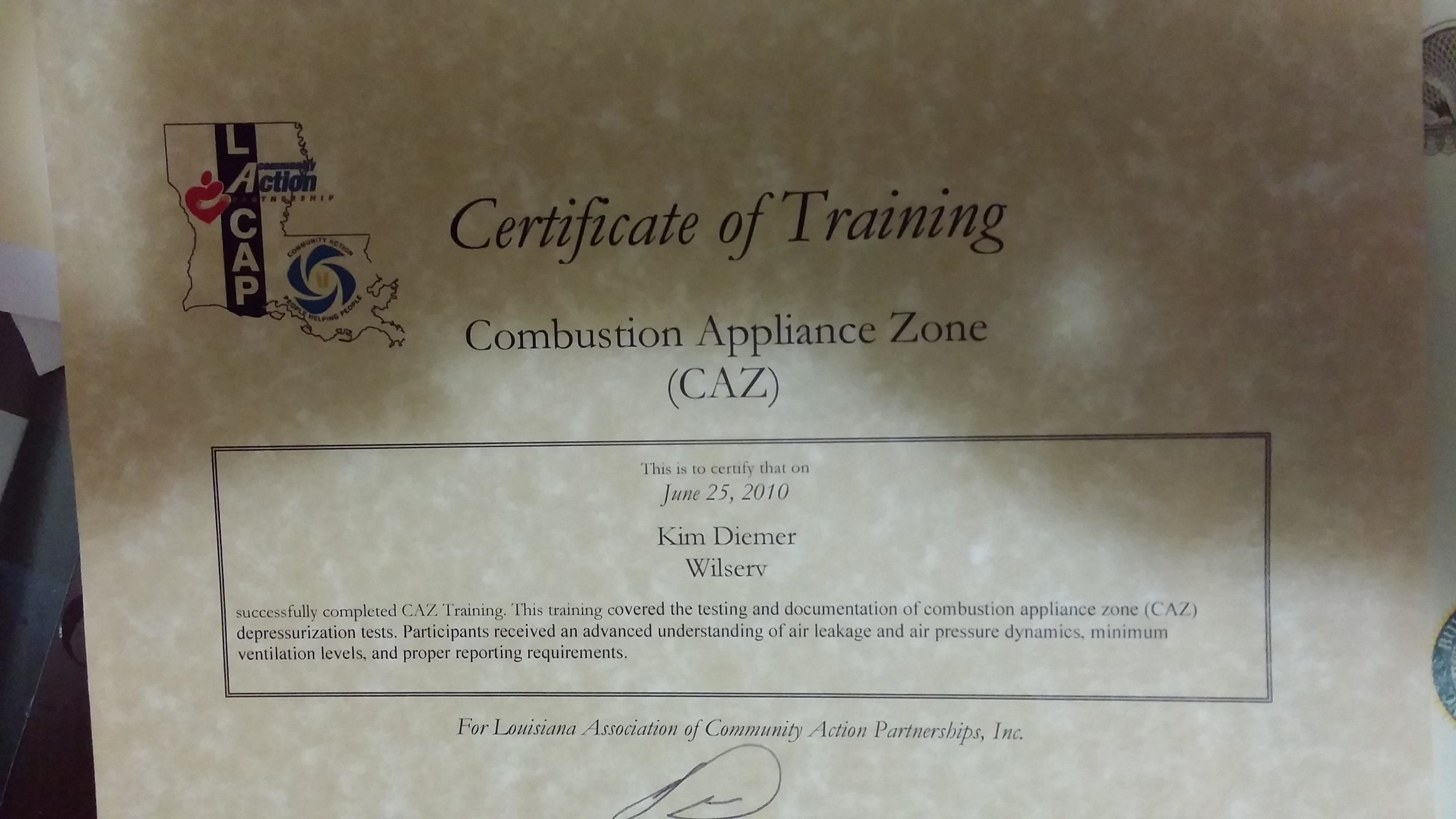 Copy of Combustion Testing Cert