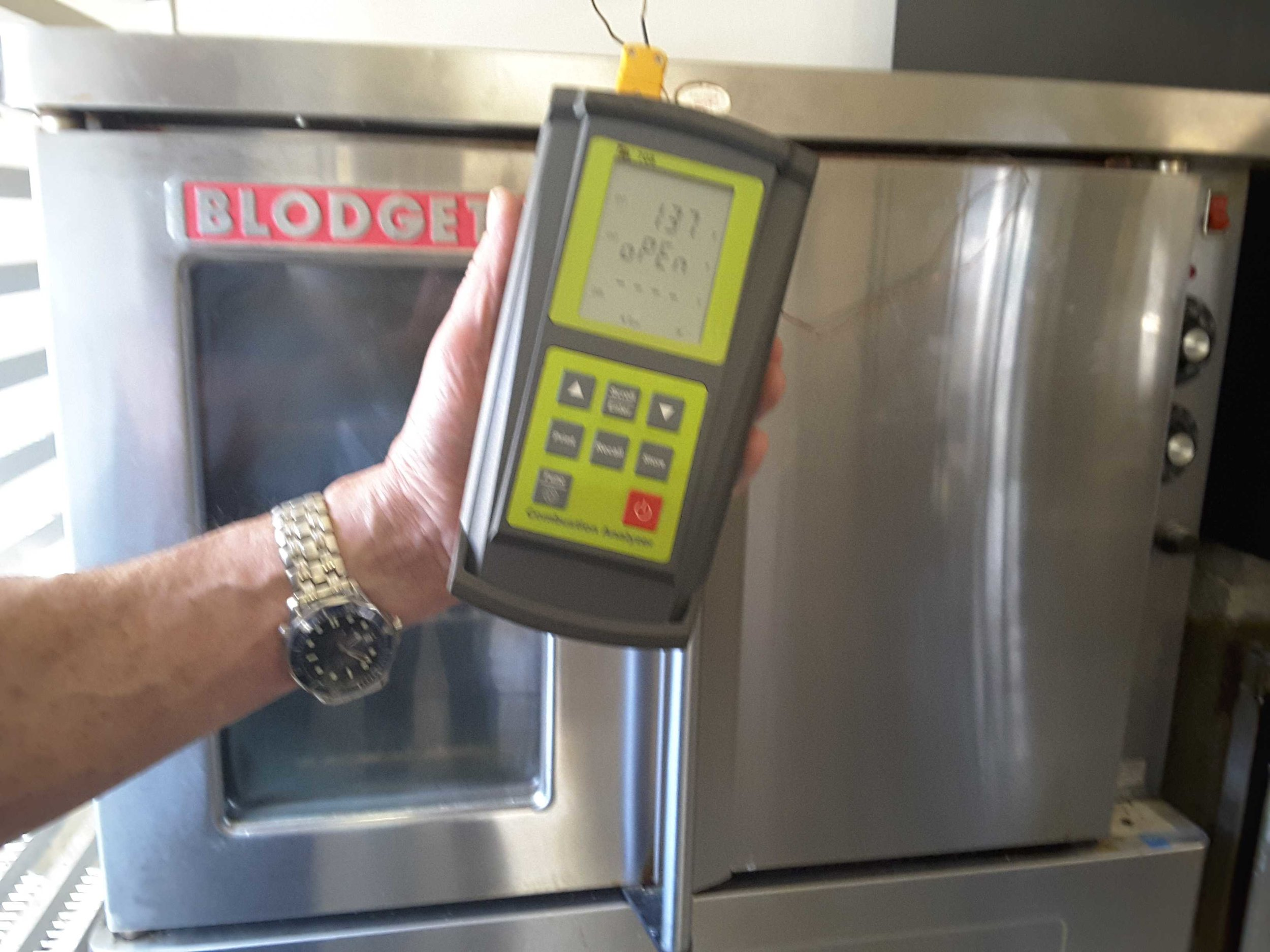 Commercial oven testing