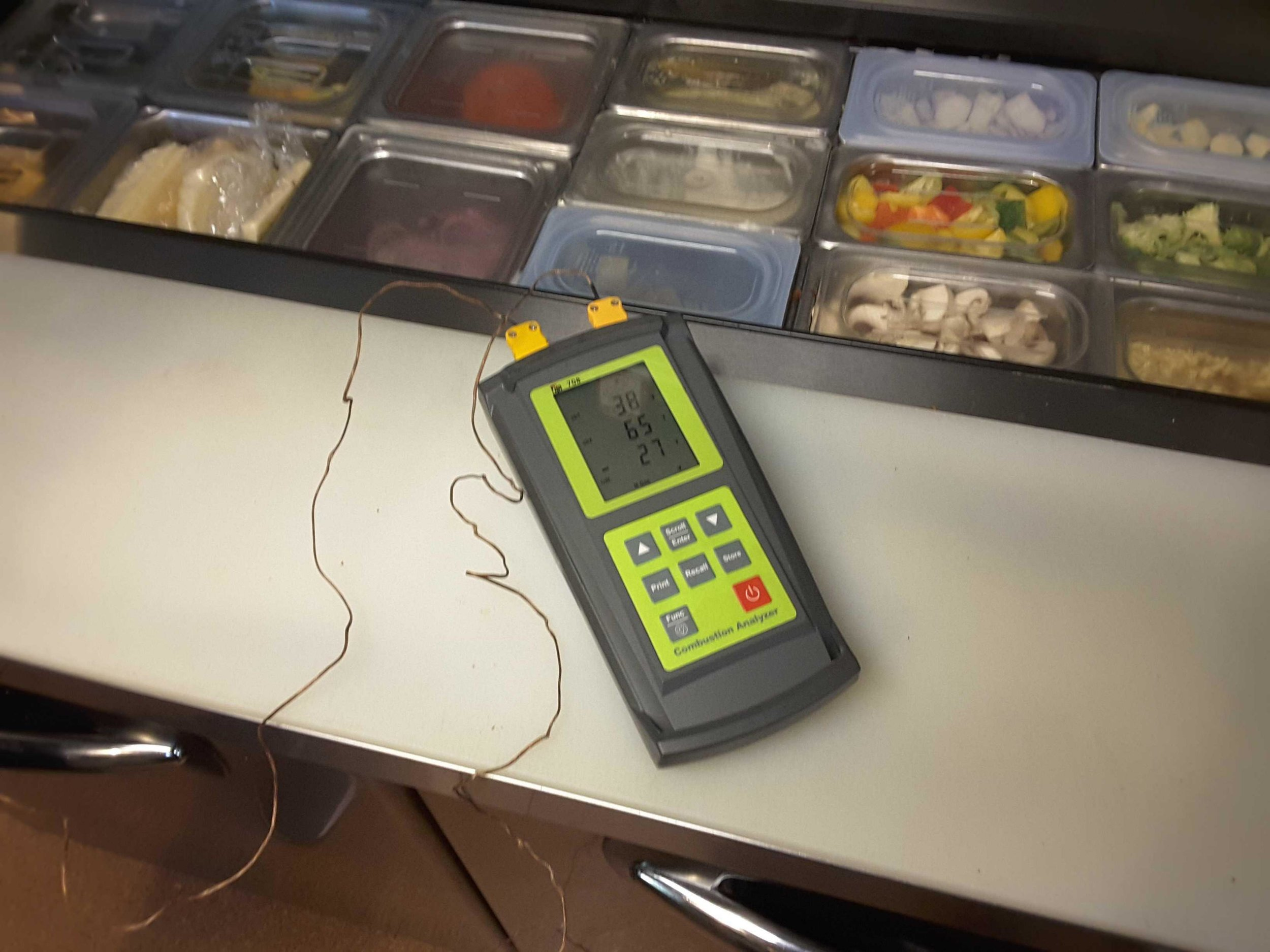 Refrigeration Testing - By testing and measuring the temperatures of each medium or low temperature refrigeration equipment we can provide you with operational results. Good or bad