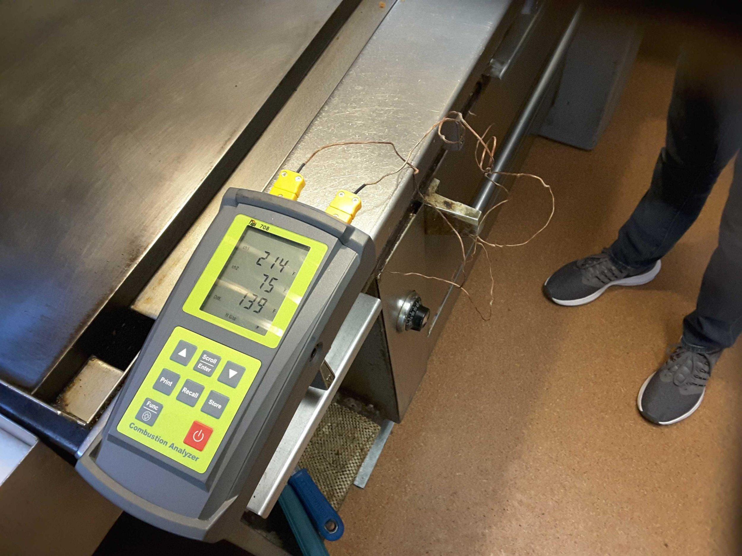 Restaurant equipment testing