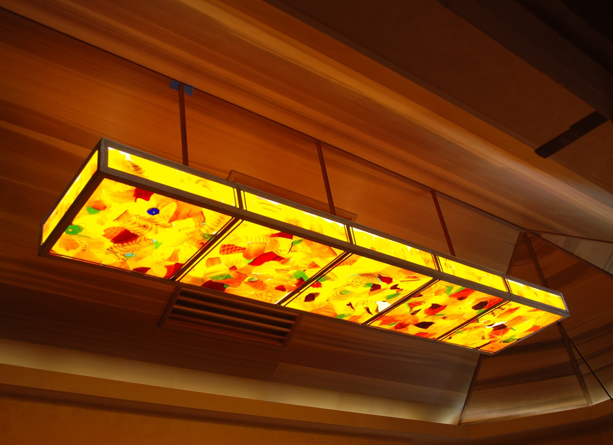 "Fused Glass Lamp 2' x 8' x 6"" Sugar Cove"
