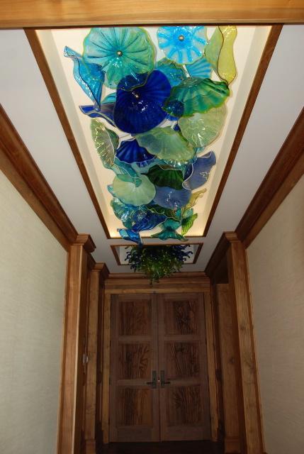 Master Blue Hallway-Polo Beach private residence