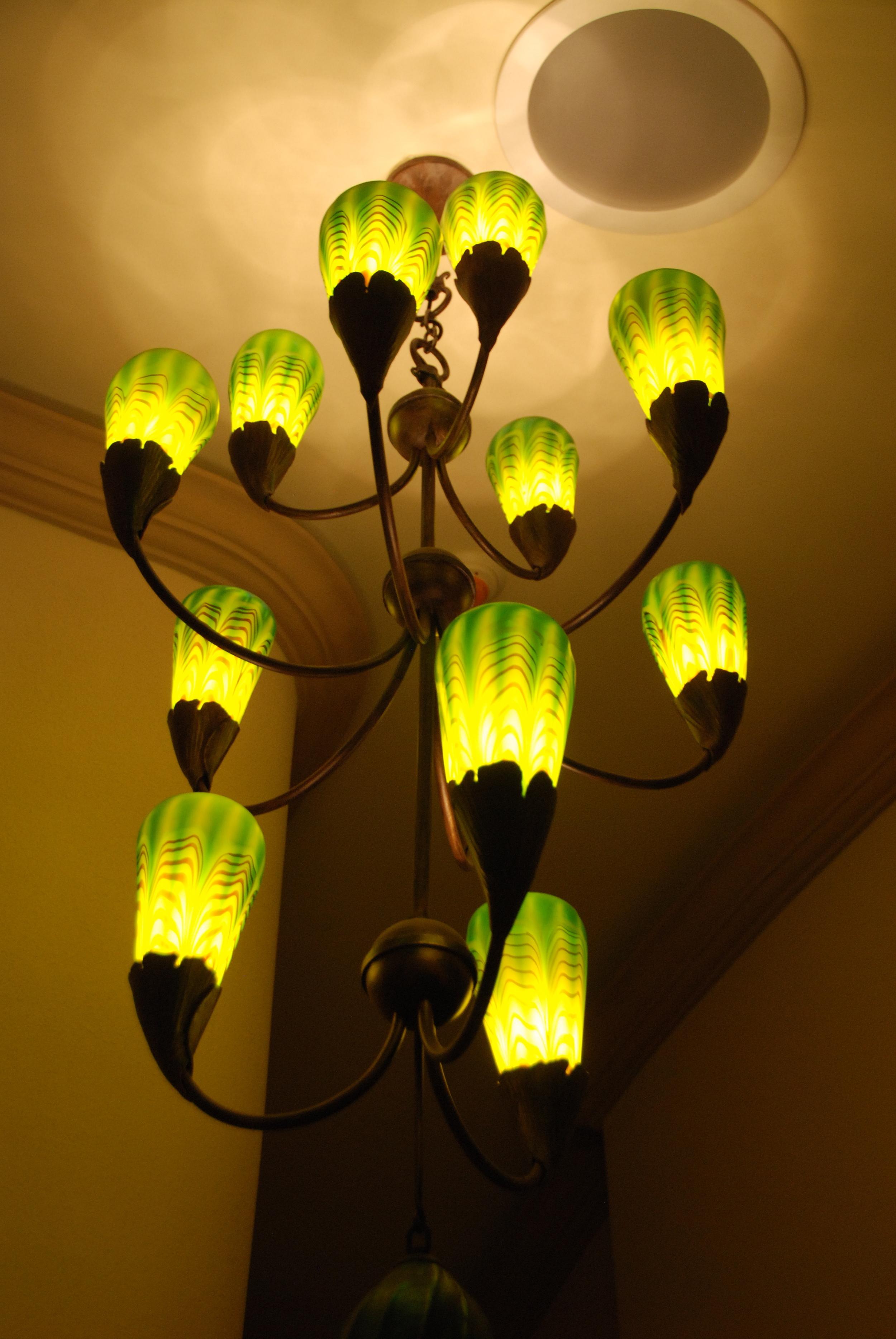Robers 12 Light Gingko Moss shades