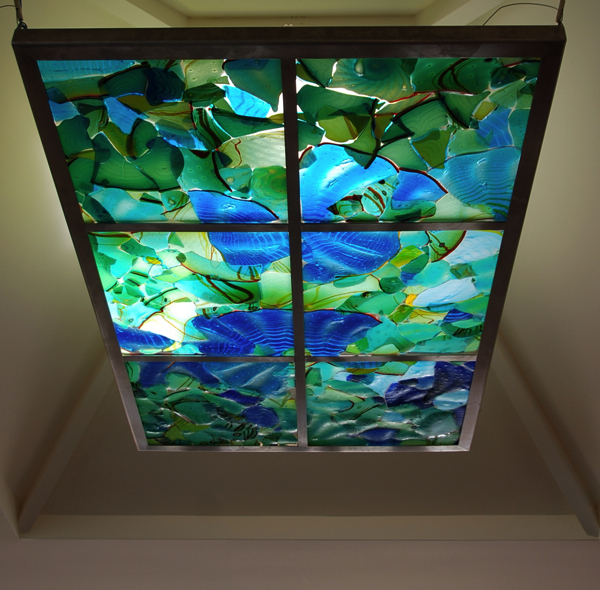 """Fused skylight 40"""" x 60"""" stainless steel-glass"""