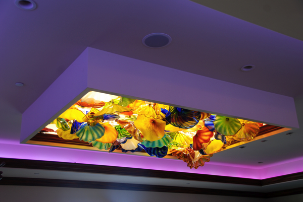 RGB color tape in soffit