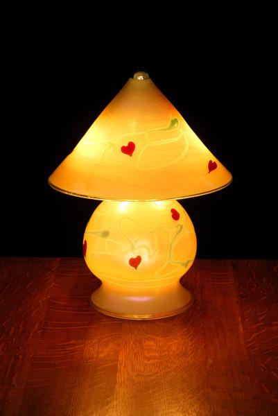Gem Lamp-Gold luster heart-vine