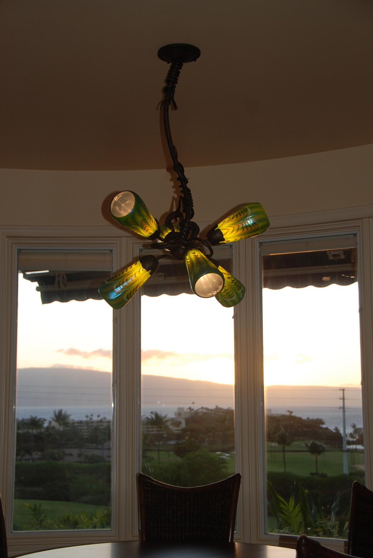 Gingko 6 light chandelier