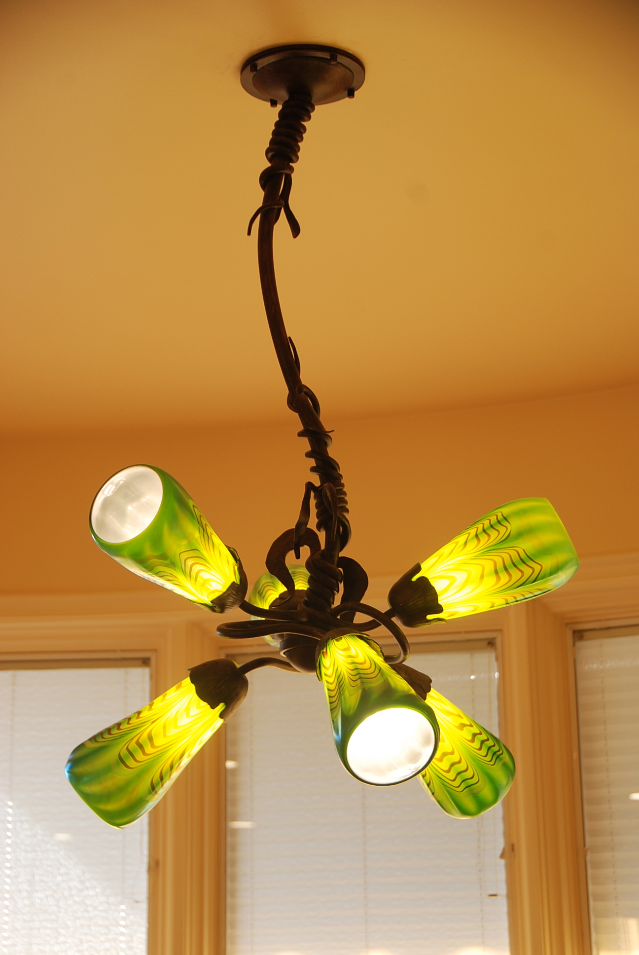 Gingko 6 light Chandelier