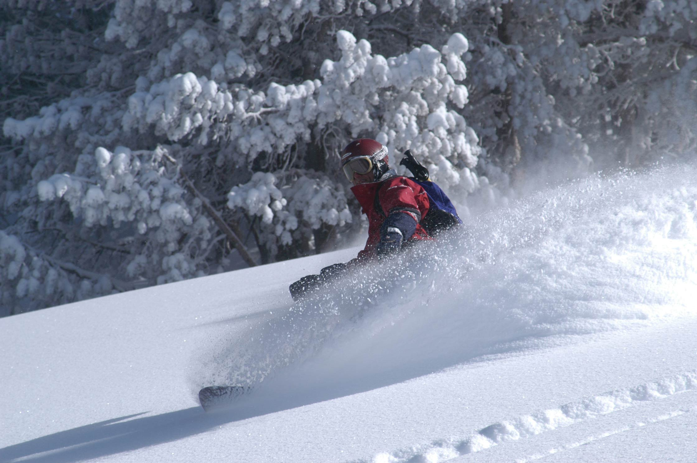 its been cold enough here with the kilns off from the lack of electricity due to the windy storm we had. Here I am in better days in the powder back country.