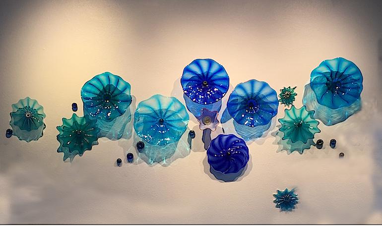 Maui Ocean Center, Aquarium entryway, 9' x 4' assorted rondels and jewels. rick strini