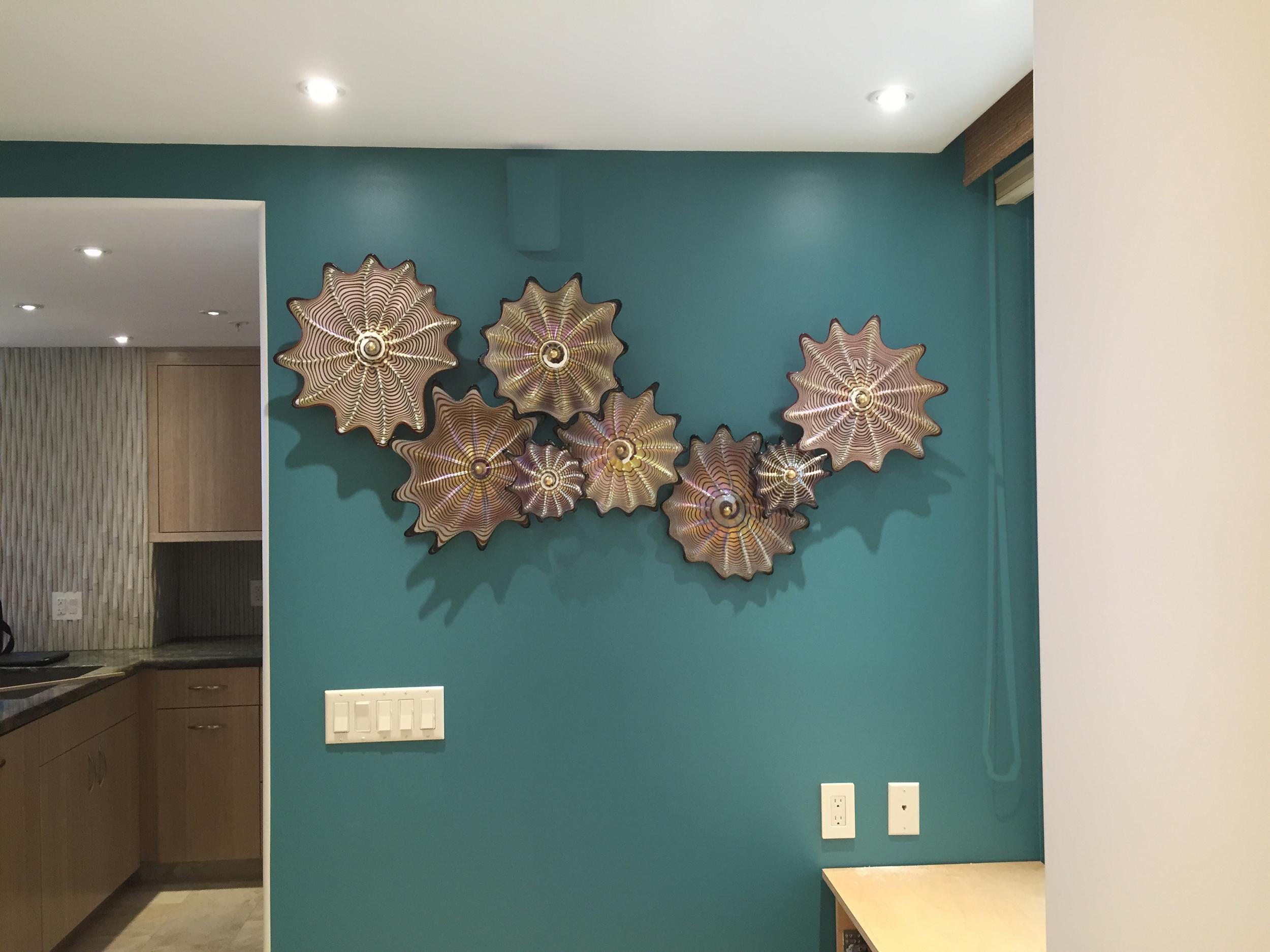 Recently installed in Kaanapali home, West Maui, Florentine Wall Splash artist rick strini 2015