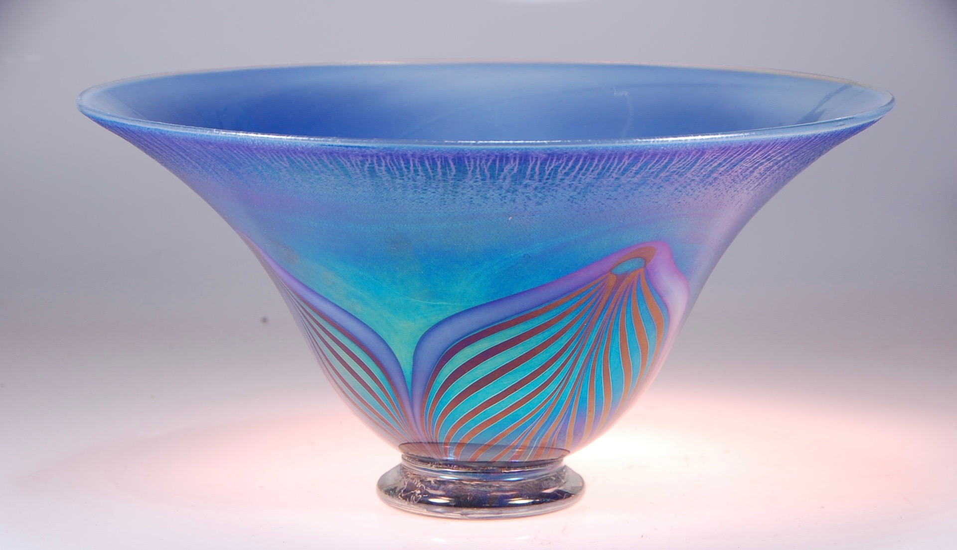"More from this last run of Pacific Pearl,  here a smooth classic bowl 14"" x 8""  signed and dated by artist rick strini2015-16"
