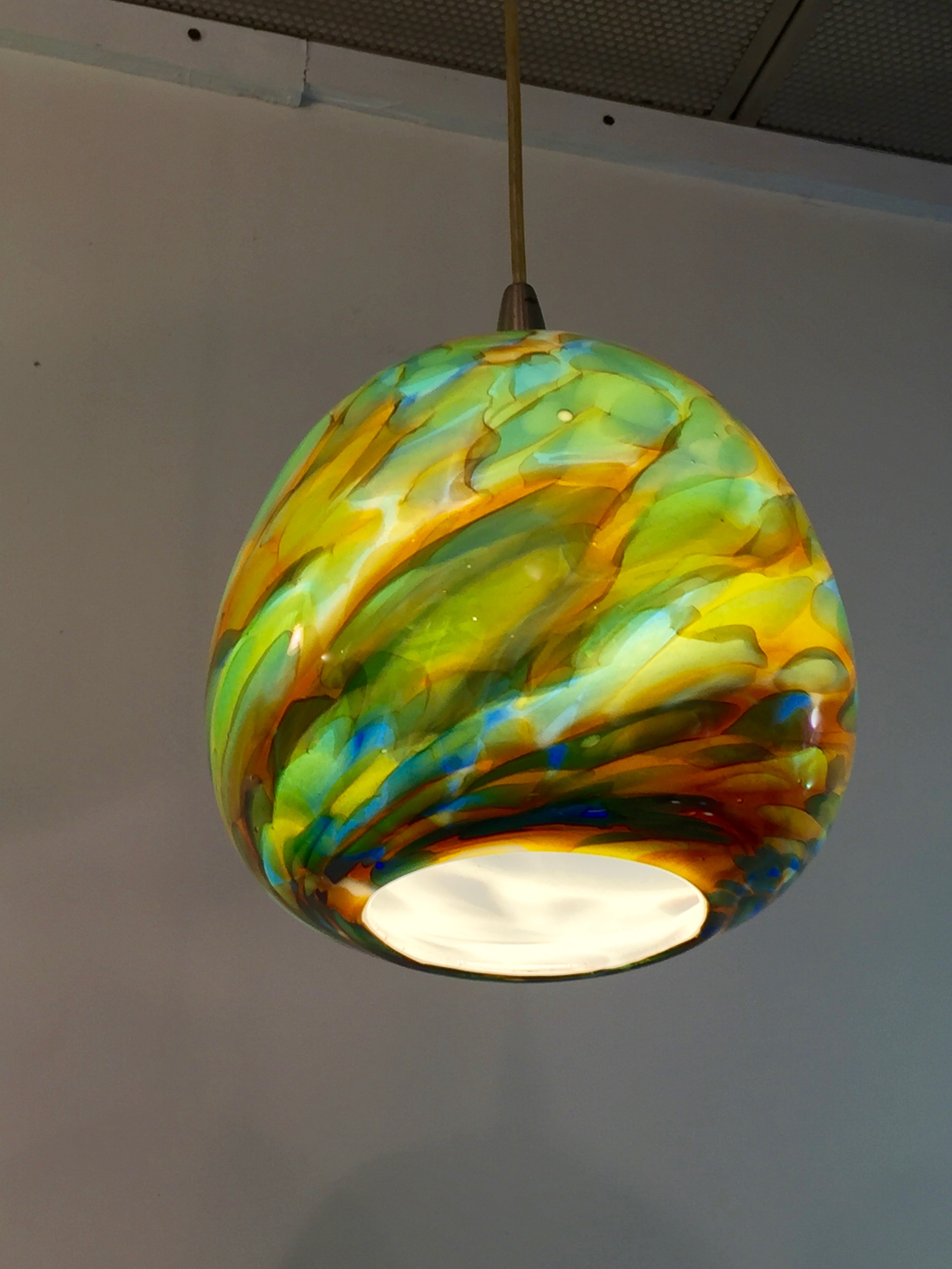 Sfumato , strini art glass technique, pendant. 2016