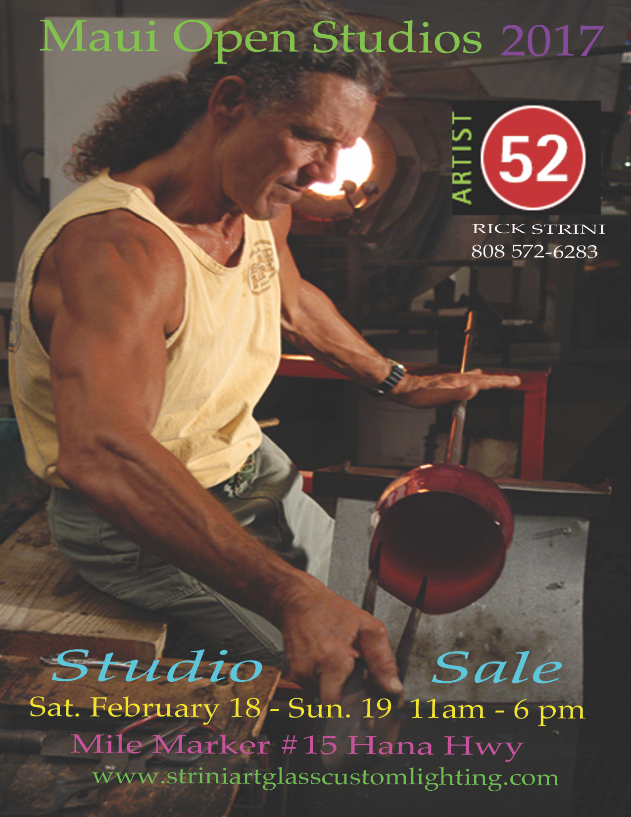 TODAY IS THE LAST DAY FOR US AT MAUI OPEN STUDIOS 2017. COME ON OUT.