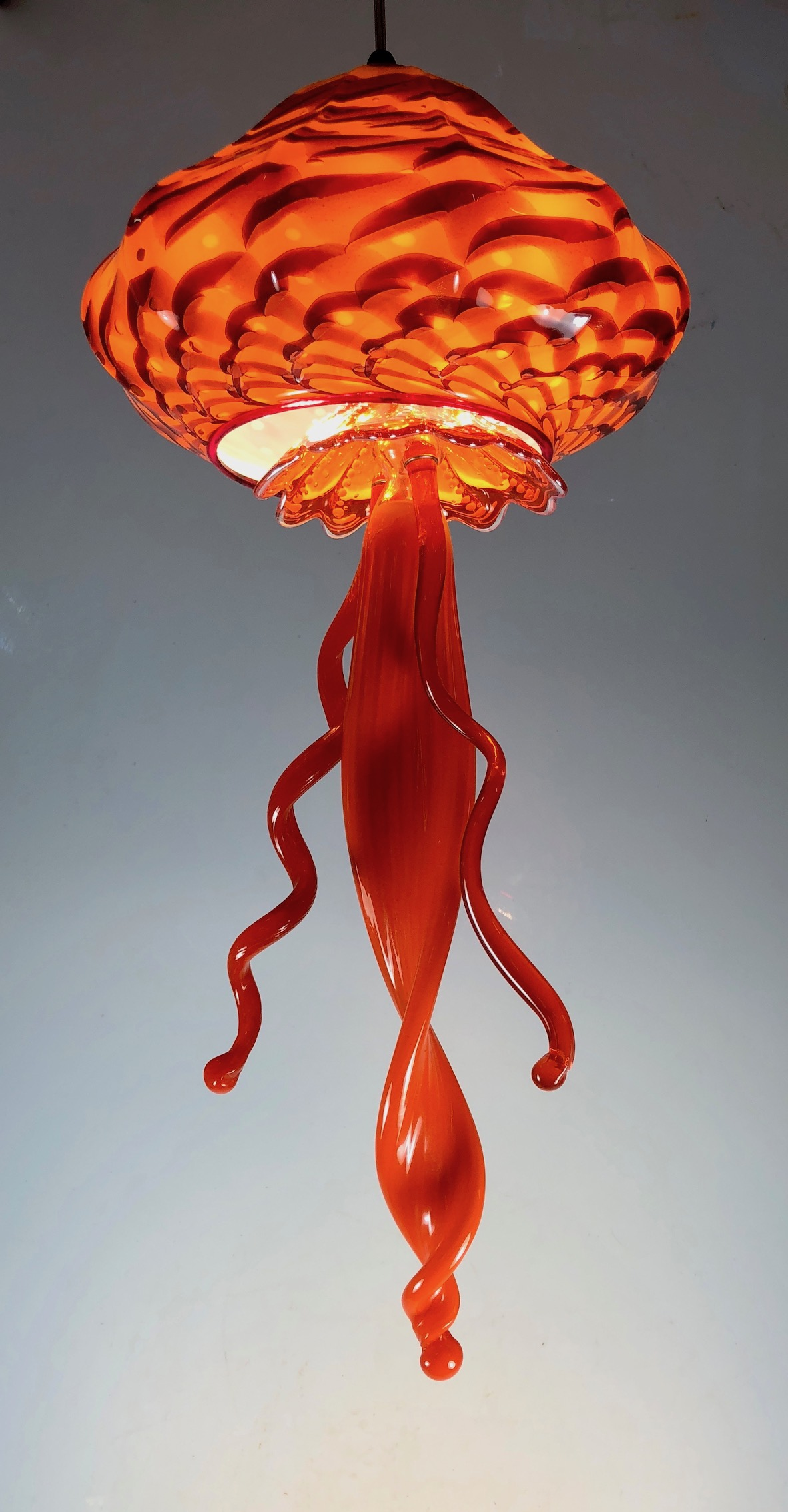 """11"""" x  25""""  all new  tentacles and skirt  Orange and Silver  hand decorated for sale now."""