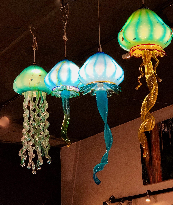 JellyFish at the Maui Crafts Guild,  Paia ,  Maui, Hawaii  strini art glass 2018