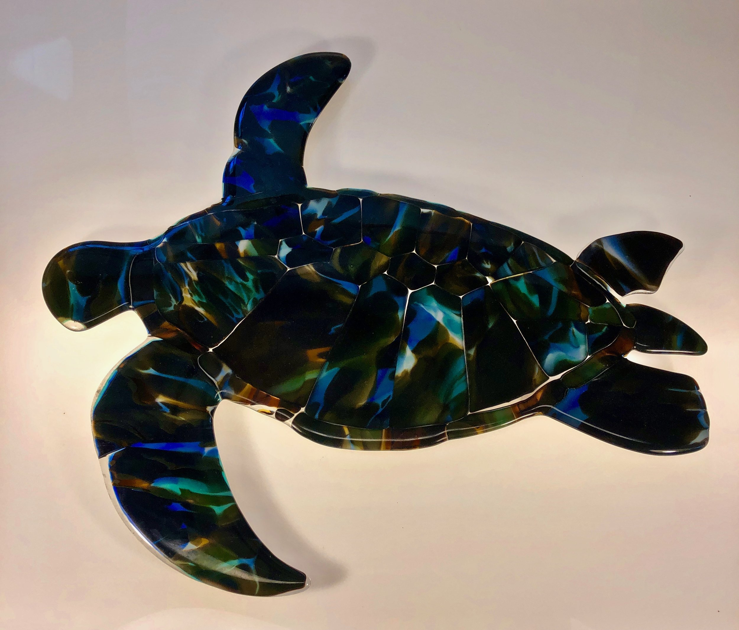 """19"""" x 22""""  wall mount with stand off.  For sale in Maui Crafts Guild.  more to follow.   rick"""