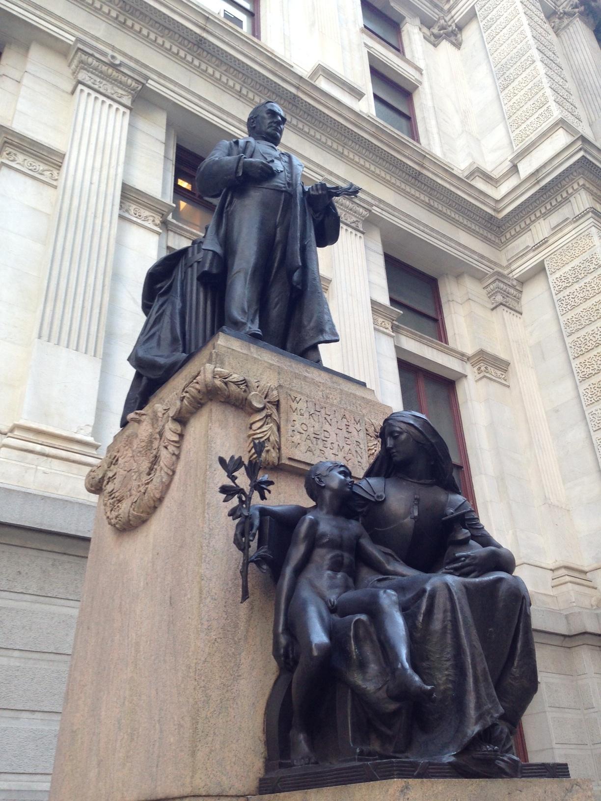William McKinley memorial outside Philadelphia City Hall.