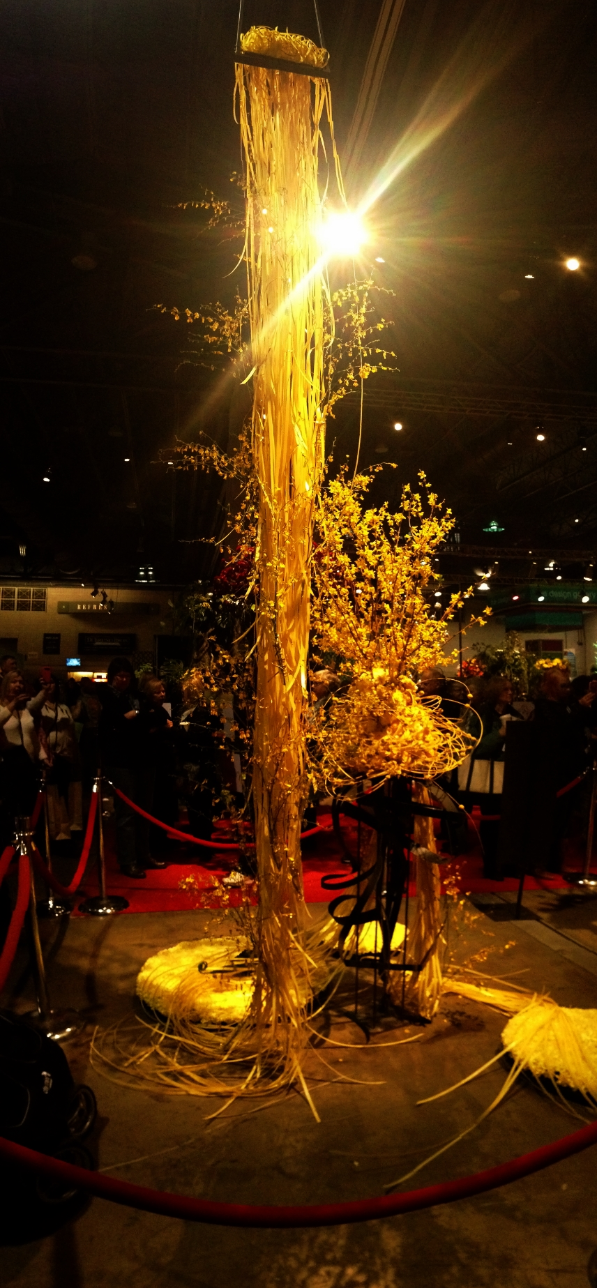 The display for Rapunzel at the Philadelphia Flower Show.