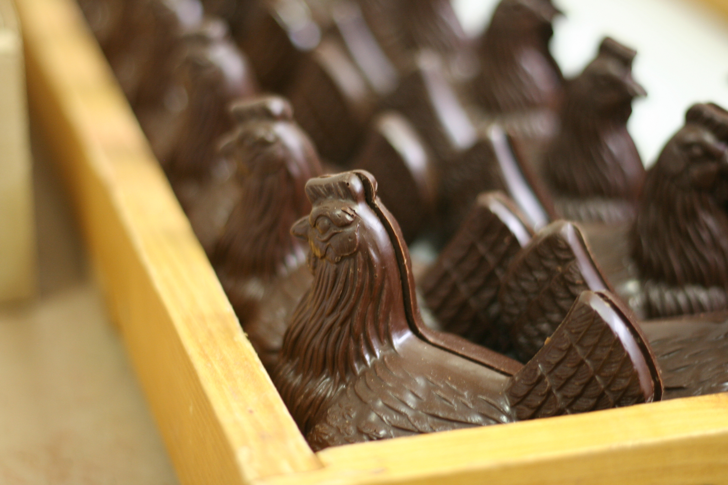 Bernachon chocolate hens (Photo: Anne Banas)