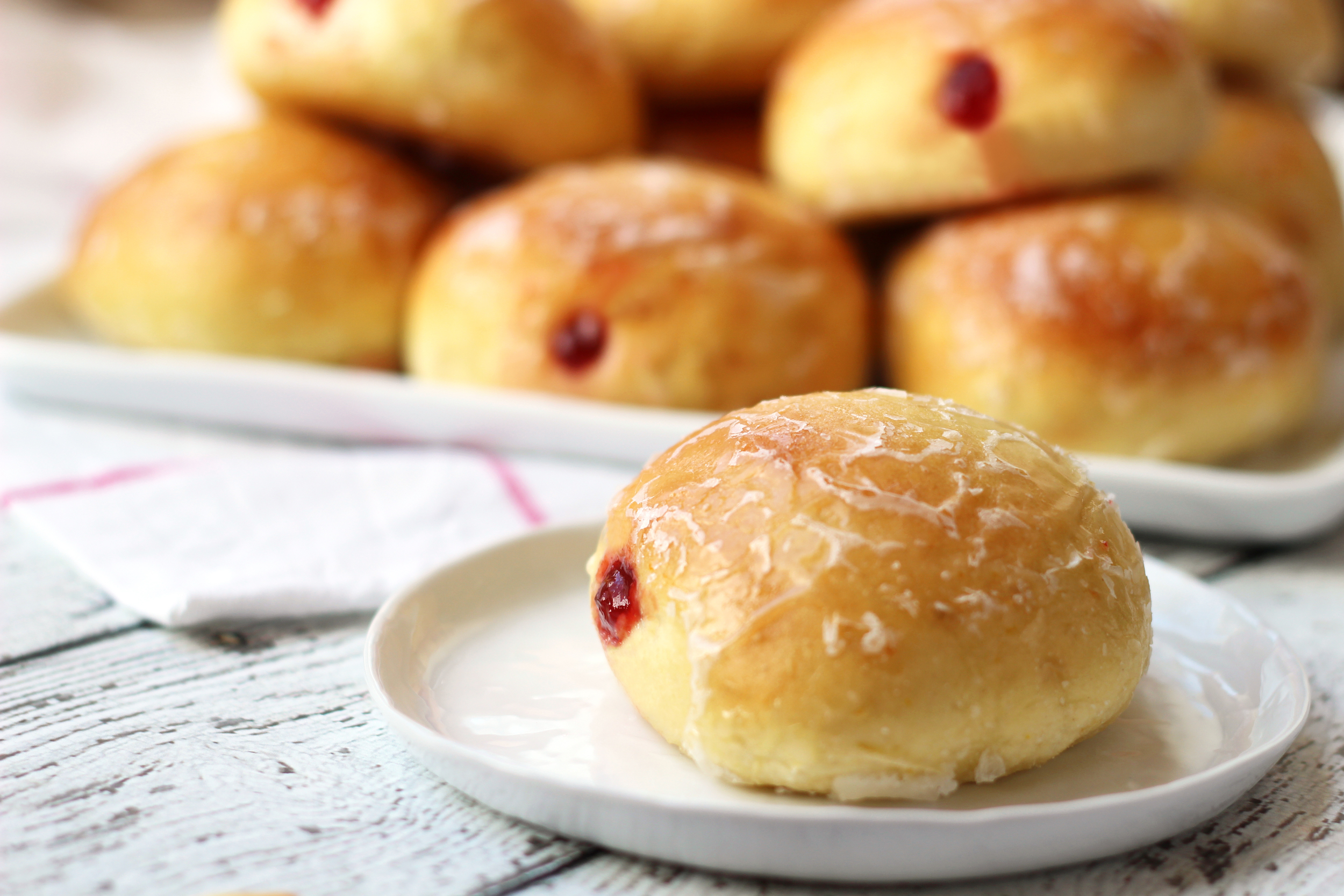Polish Pączki with Plum Butter