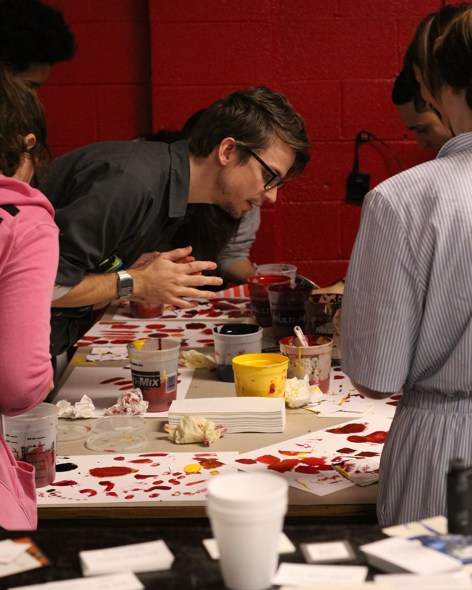 Jesse Adams leading the Color Mixing Seminar