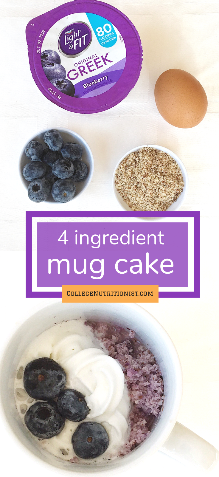 4 ingredient mug cake