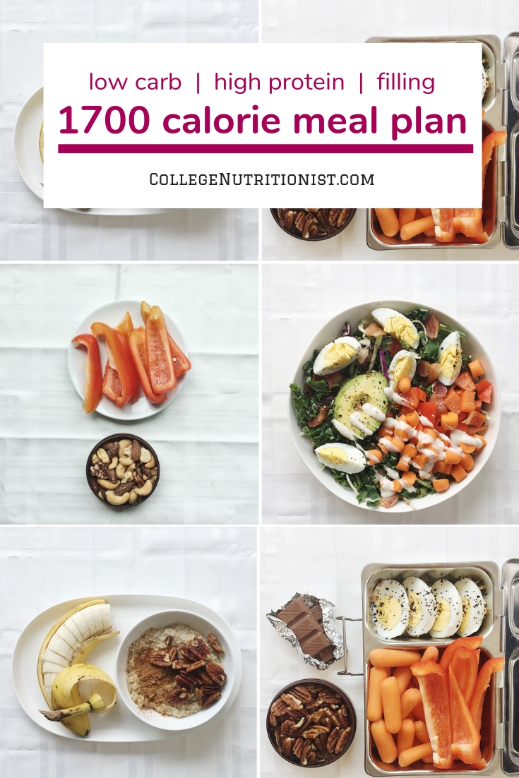 1700 calorie meal plan, weekly meal plan, low carb high fat