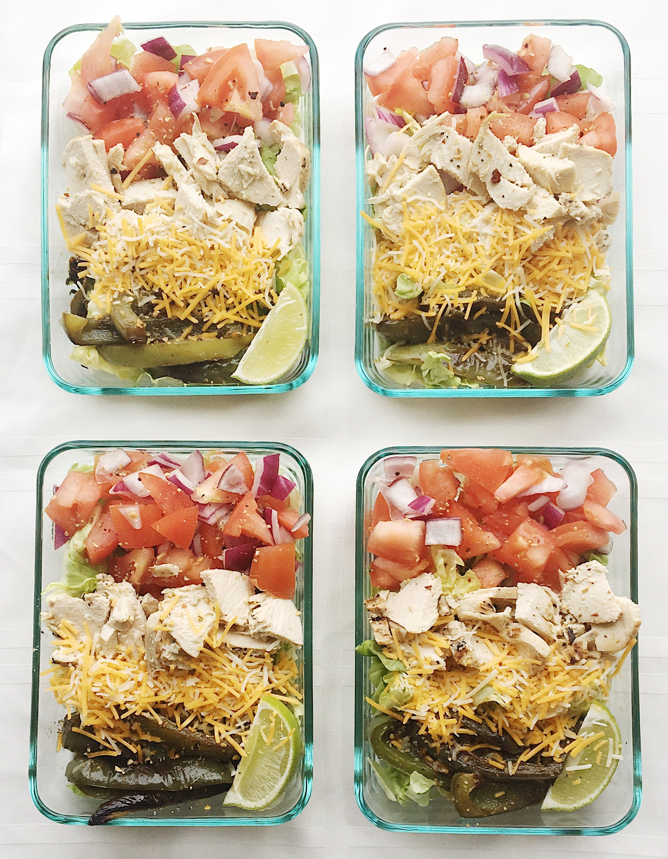 college nutritionist lunch - taco bowls