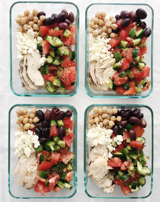 college nutritionist lunch mediterranean bowls
