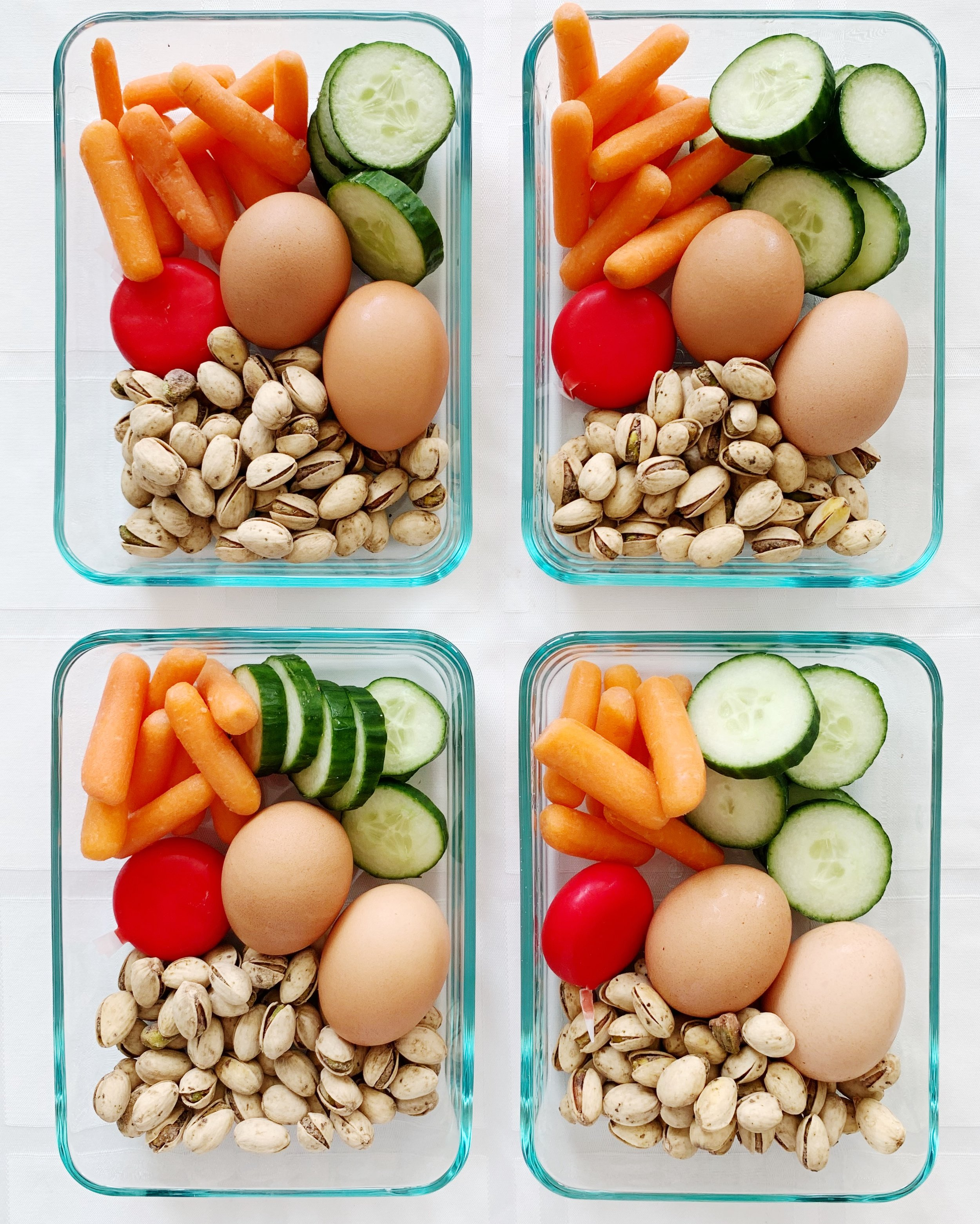 Nuts Cheese and Eggs Bento Box