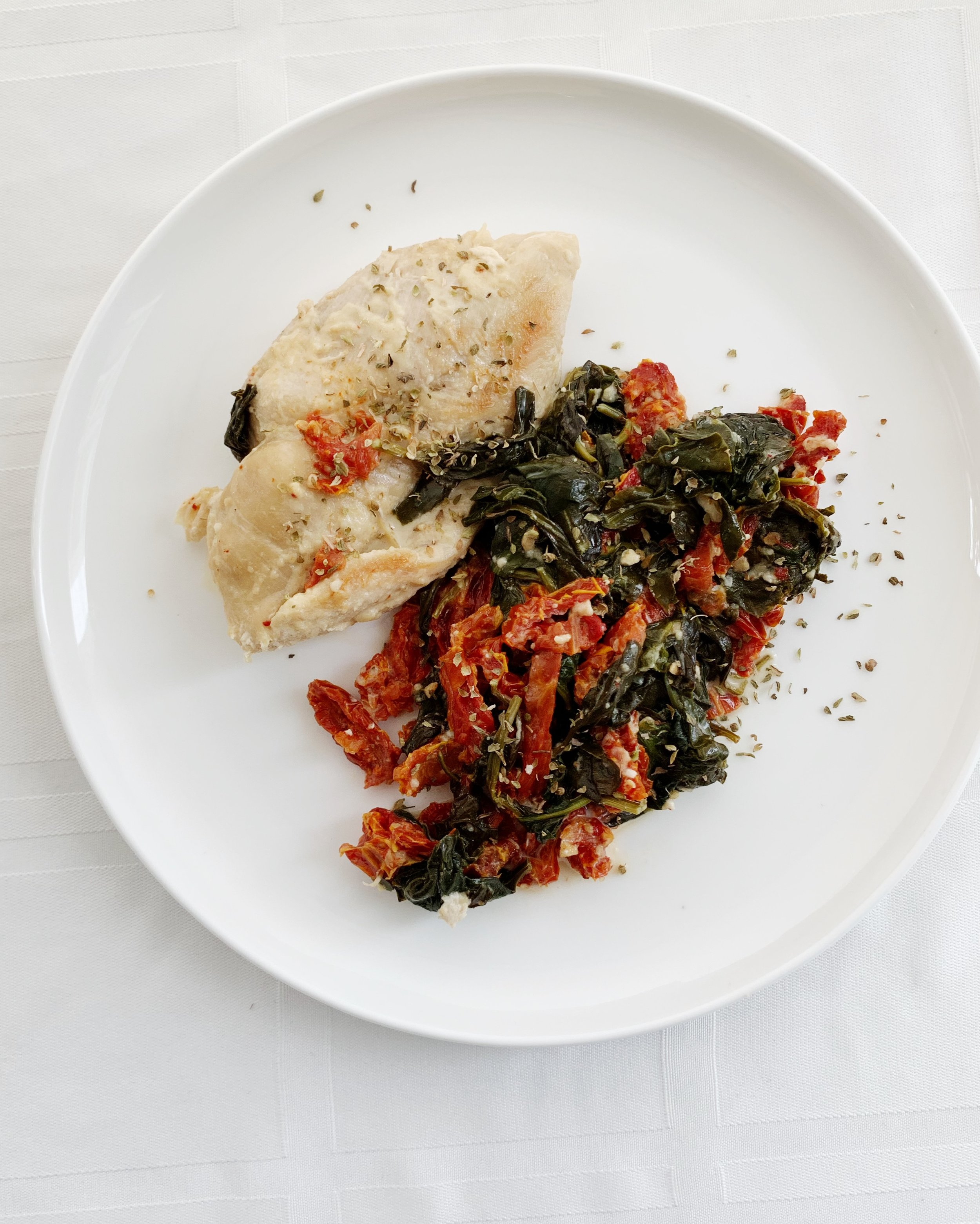 Instant Pot Creamy Chicken with Spinach and Sun Dried Tomatoes