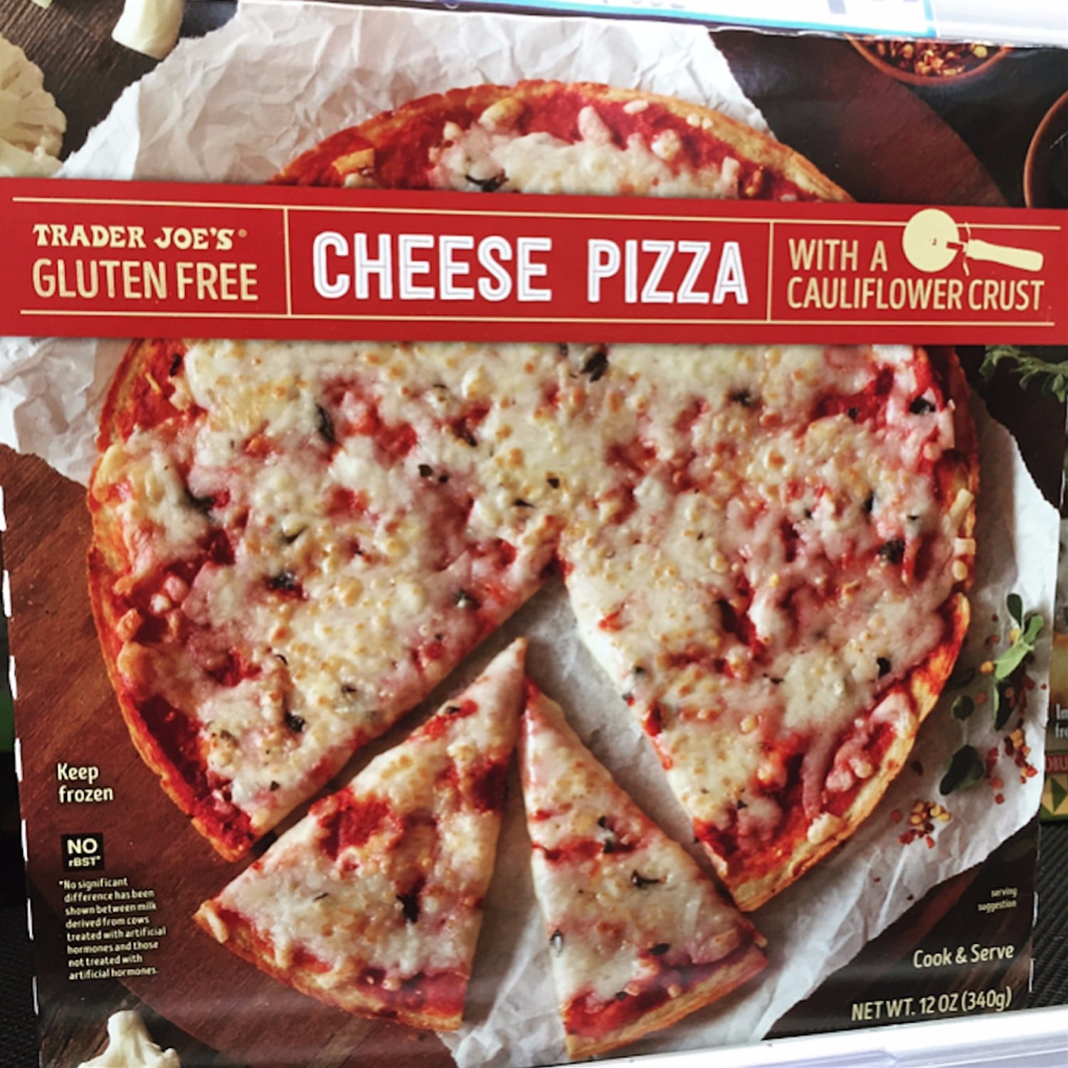 Trader Joe's Cauliflower Crust Cheese Pizzas