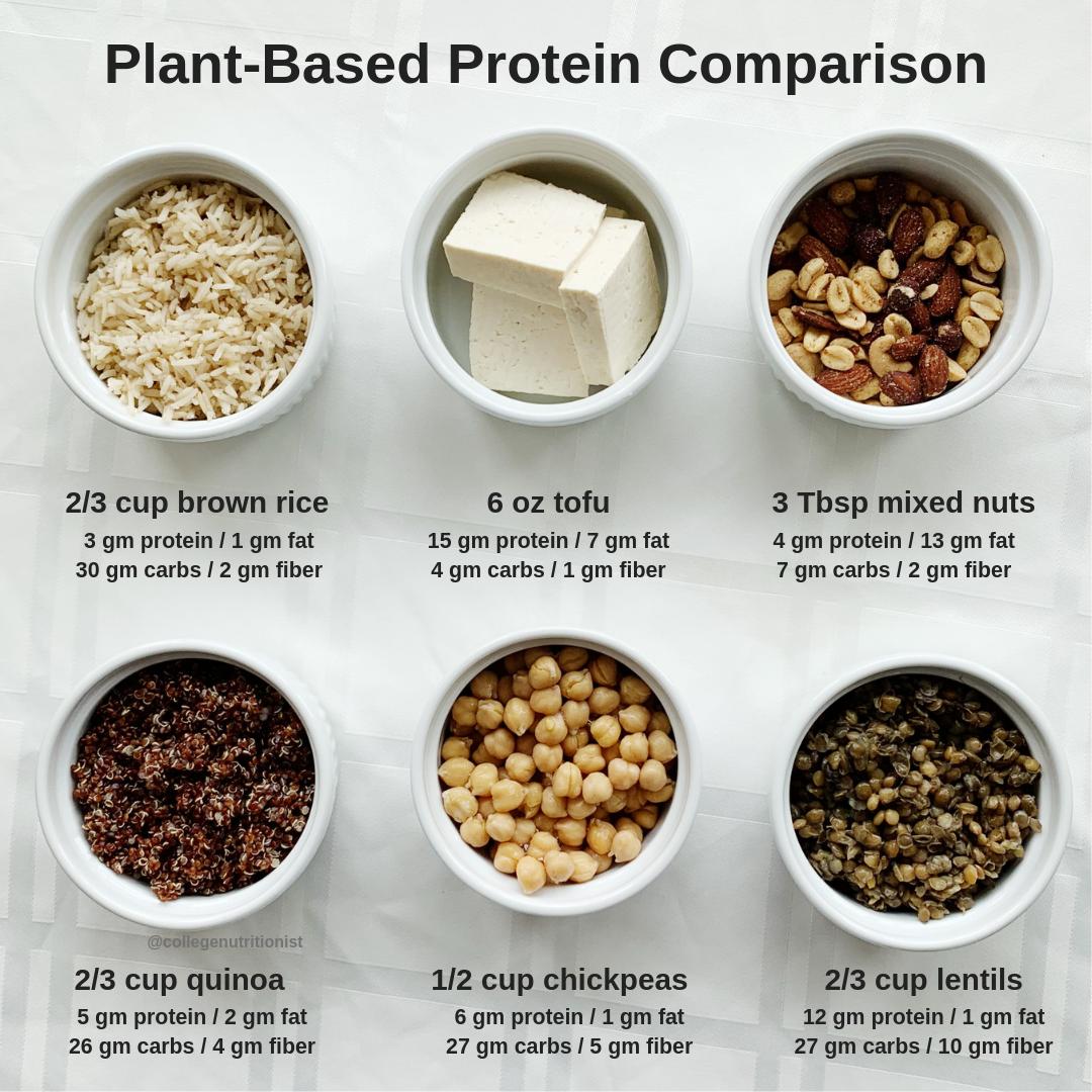 veggie protein comparison college nutritionist