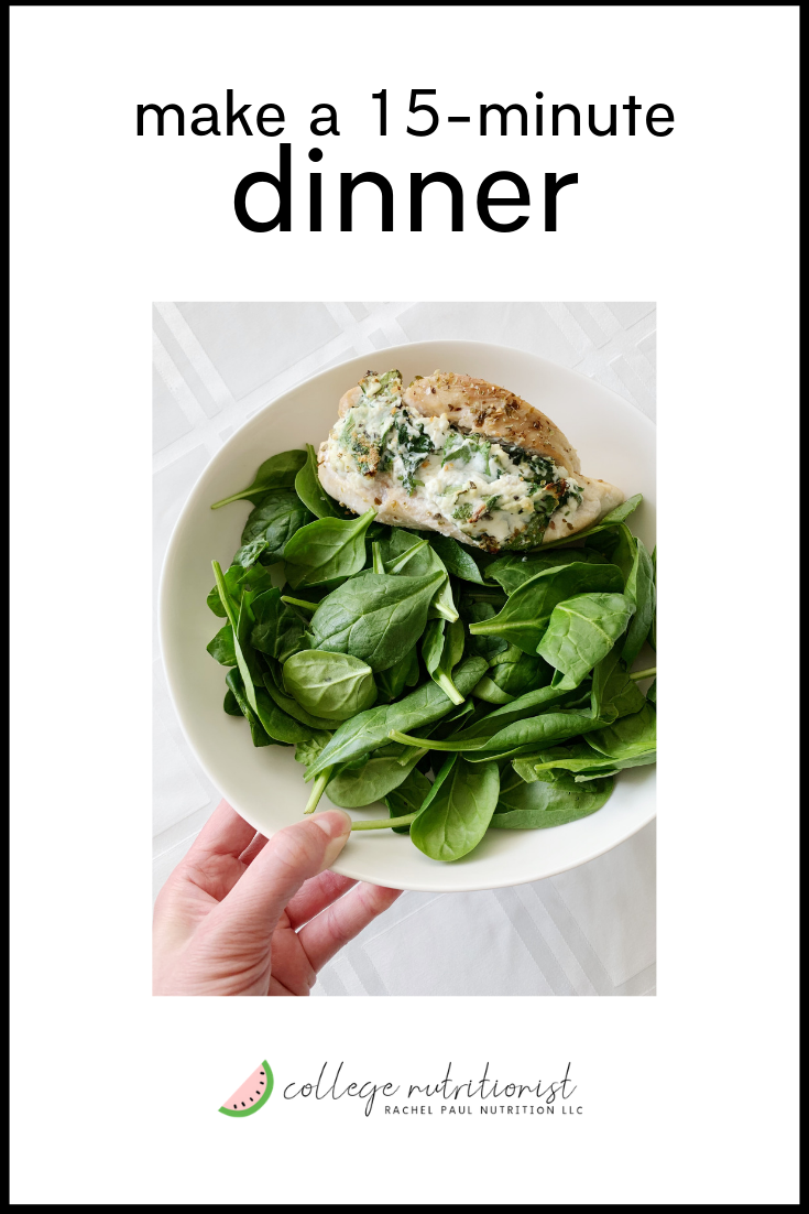 how to make a 15 minute high protein low carb dinner