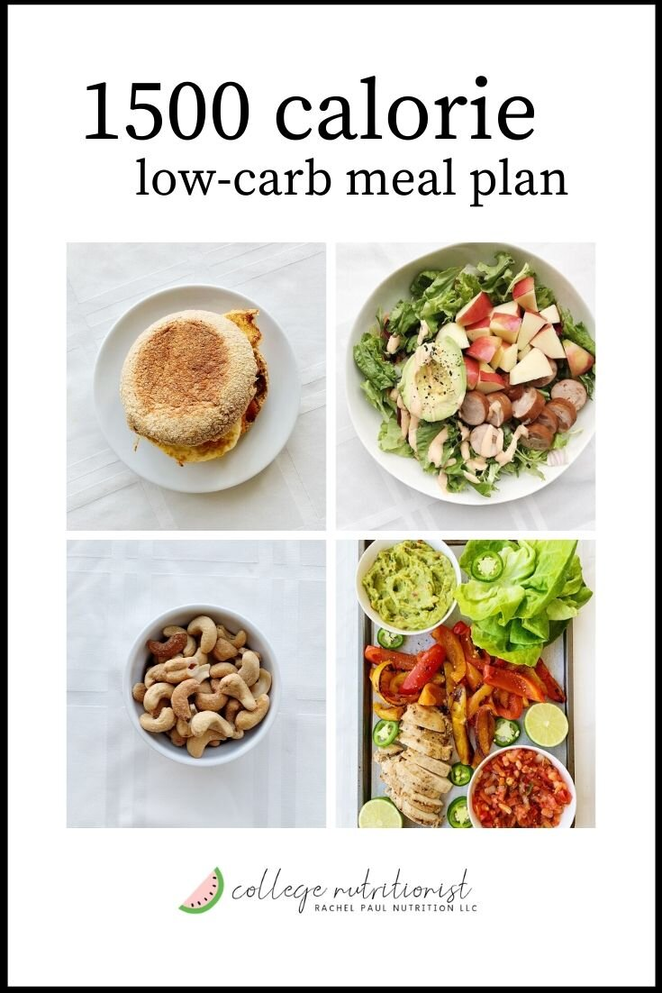 5 Day 1500 Calorie Meal Plan Low Carb High Protein The College Nutritionist