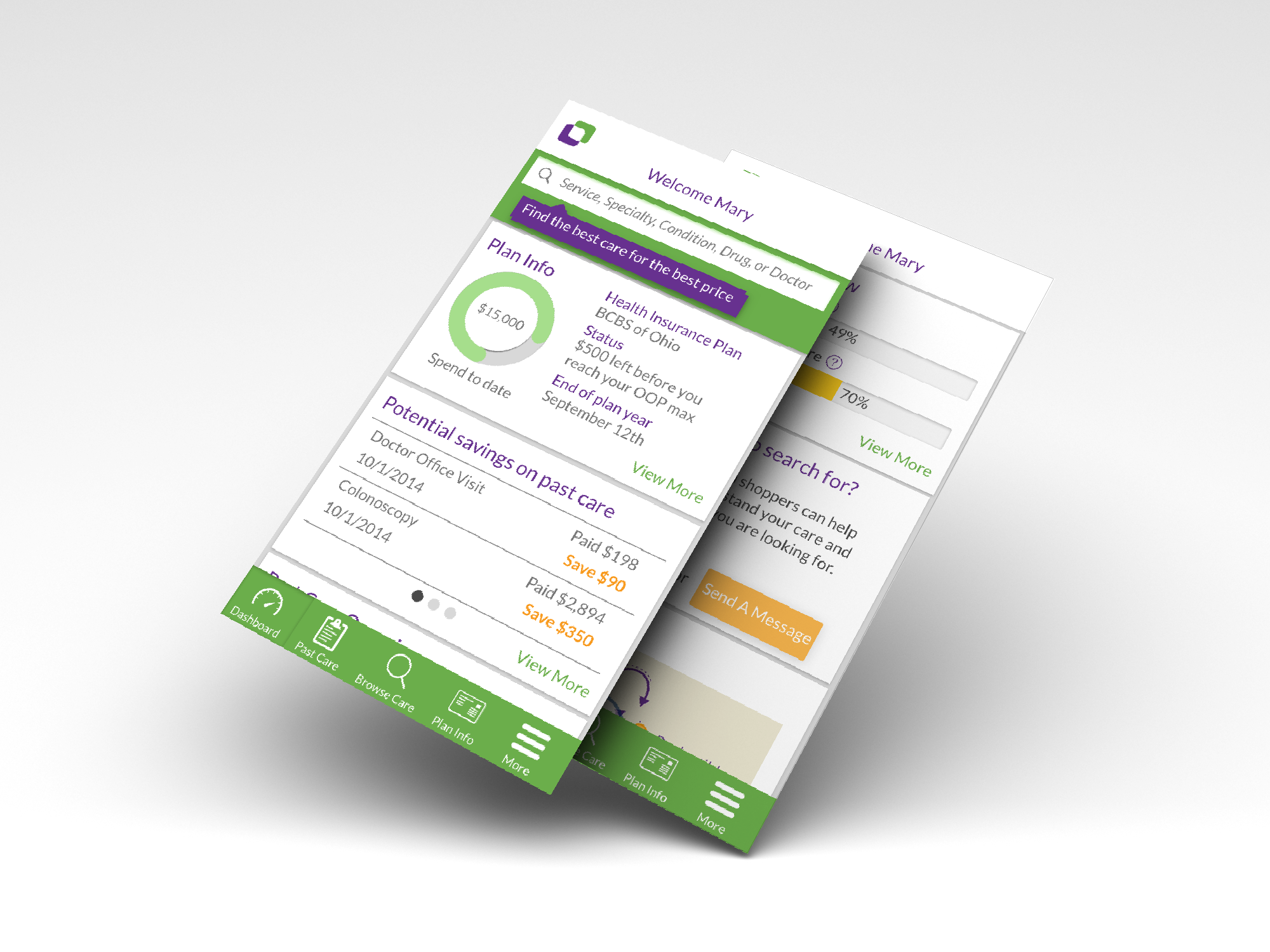 The product dashboard provides easy access to the most used features of the product