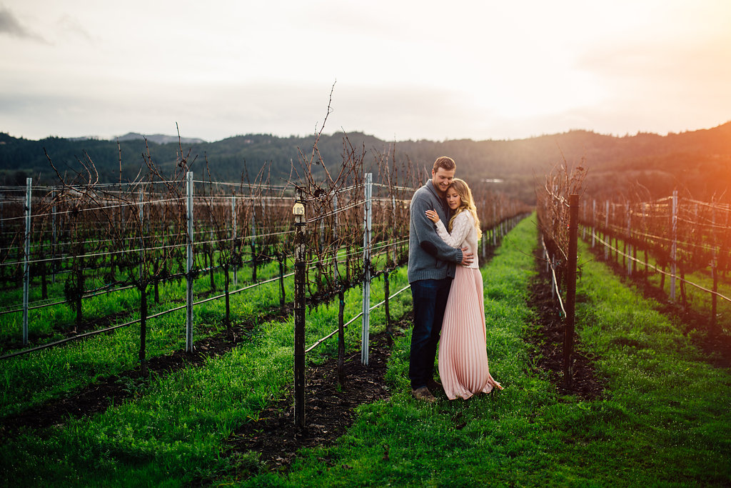 Napa winery anniversary session